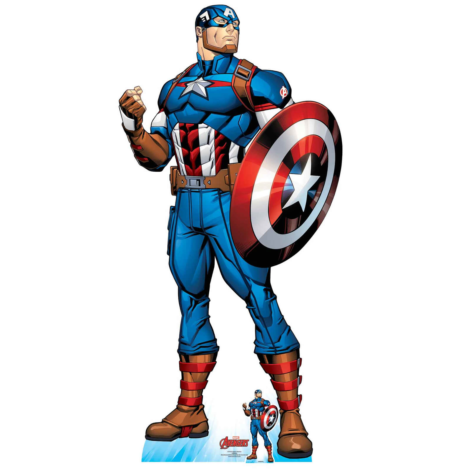 Image of The Avengers Captain America Oversized Cardboard Cut Out
