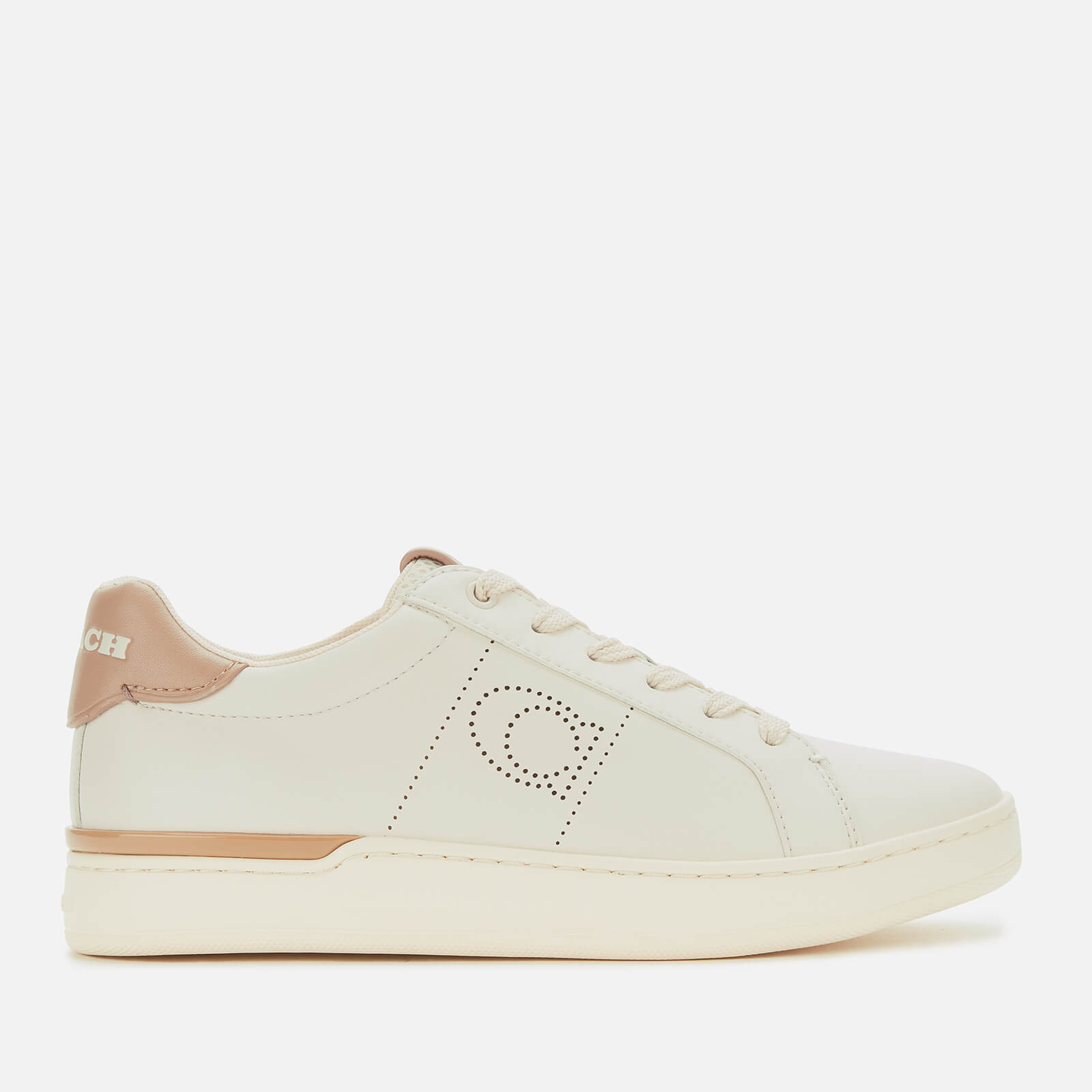 Coach Women's ADB Leather/Suede Cupsole Trainers - Chalk/Taupe - UK 4