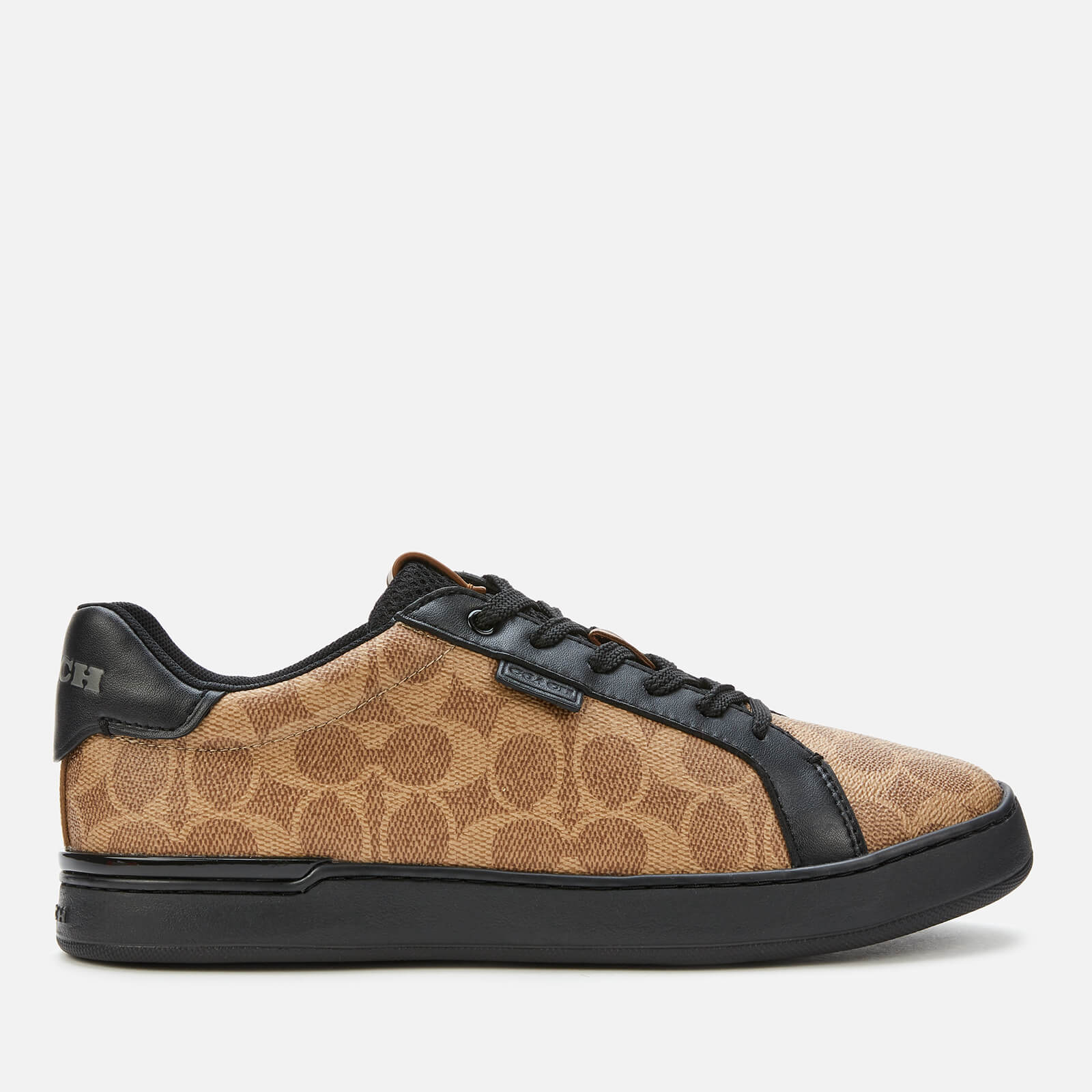 Click to view product details and reviews for Coach Mens Signature Tennis Cup Sole Trainers Khaki Black Uk 8.