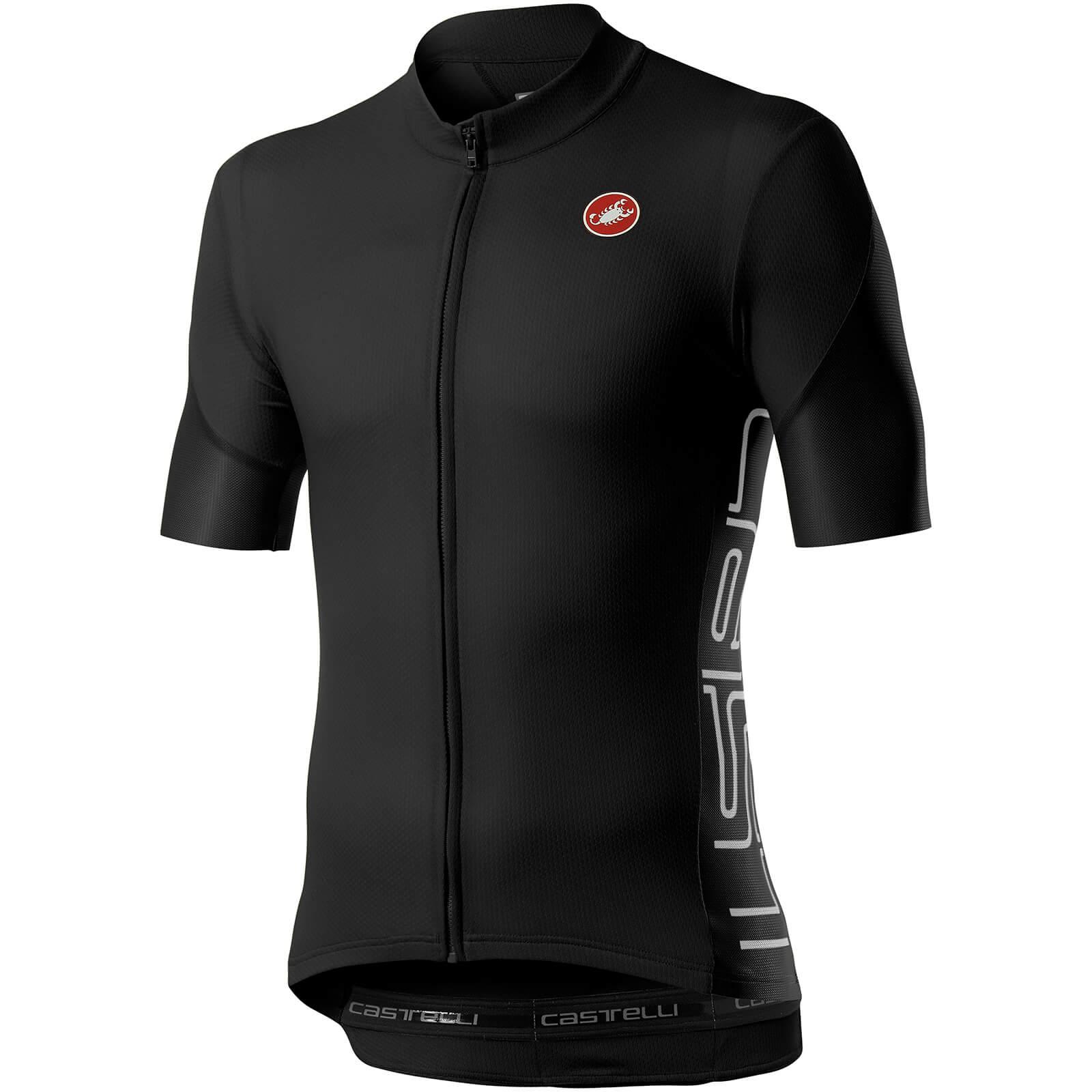 Castelli Entrata V Jersey - XL - Light Black