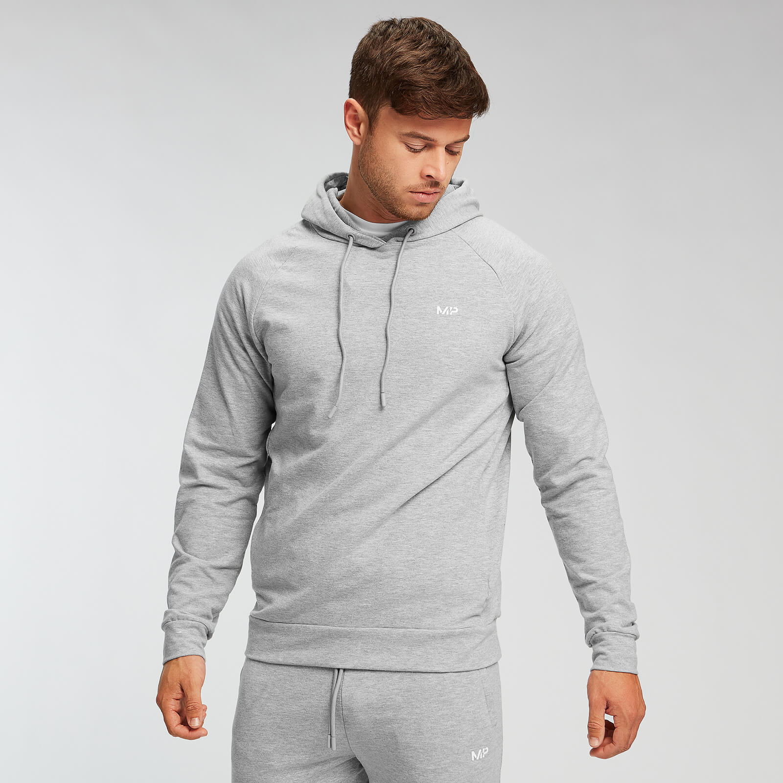 Sweat à capuche MP Form pour hommes – Gris chiné - S