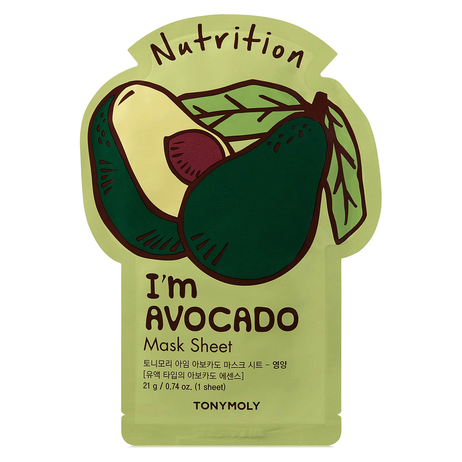 Купить TONYMOLY I'm Avocado Sheet Mask 21g