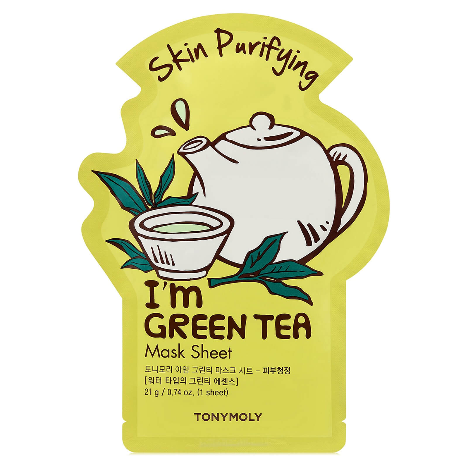 Купить TONYMOLY I'm Green Tea Sheet Mask 21ml
