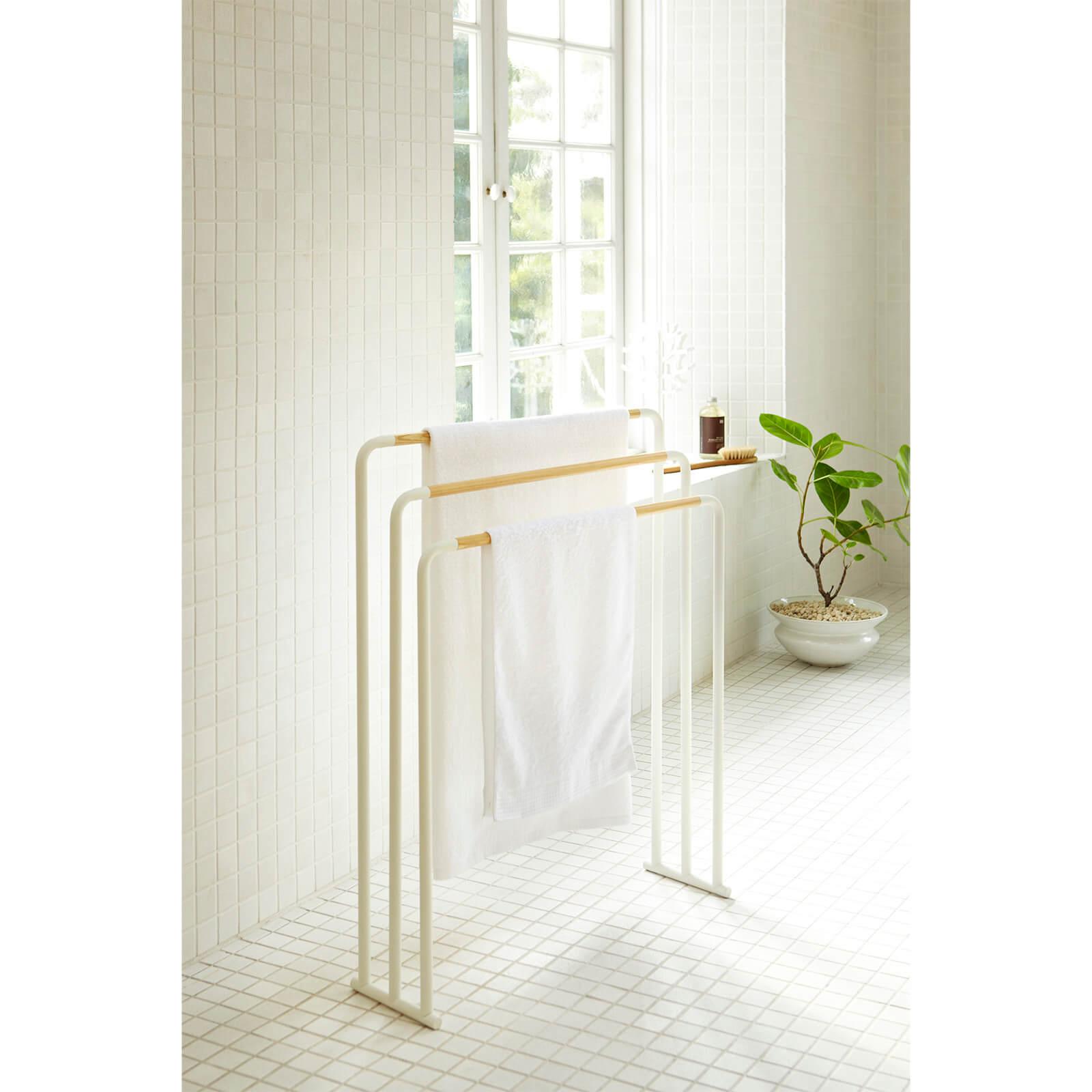 Yamazaki - Freestanding Towel Rack - White