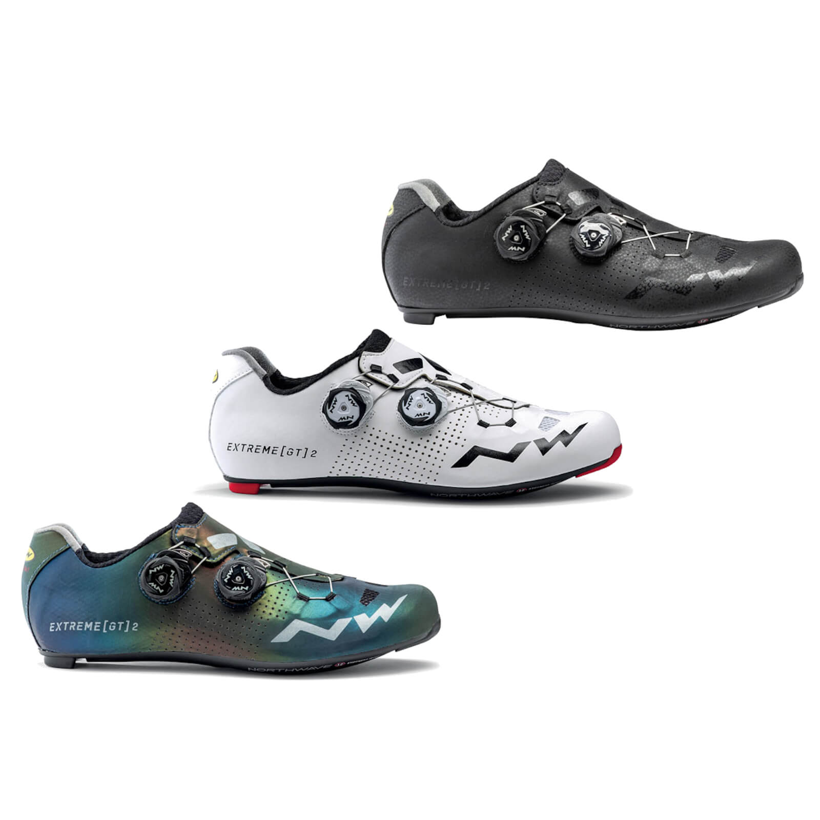 Northwave Extreme GT 2 Carbon Road Shoes - EU 47 - Schwarz