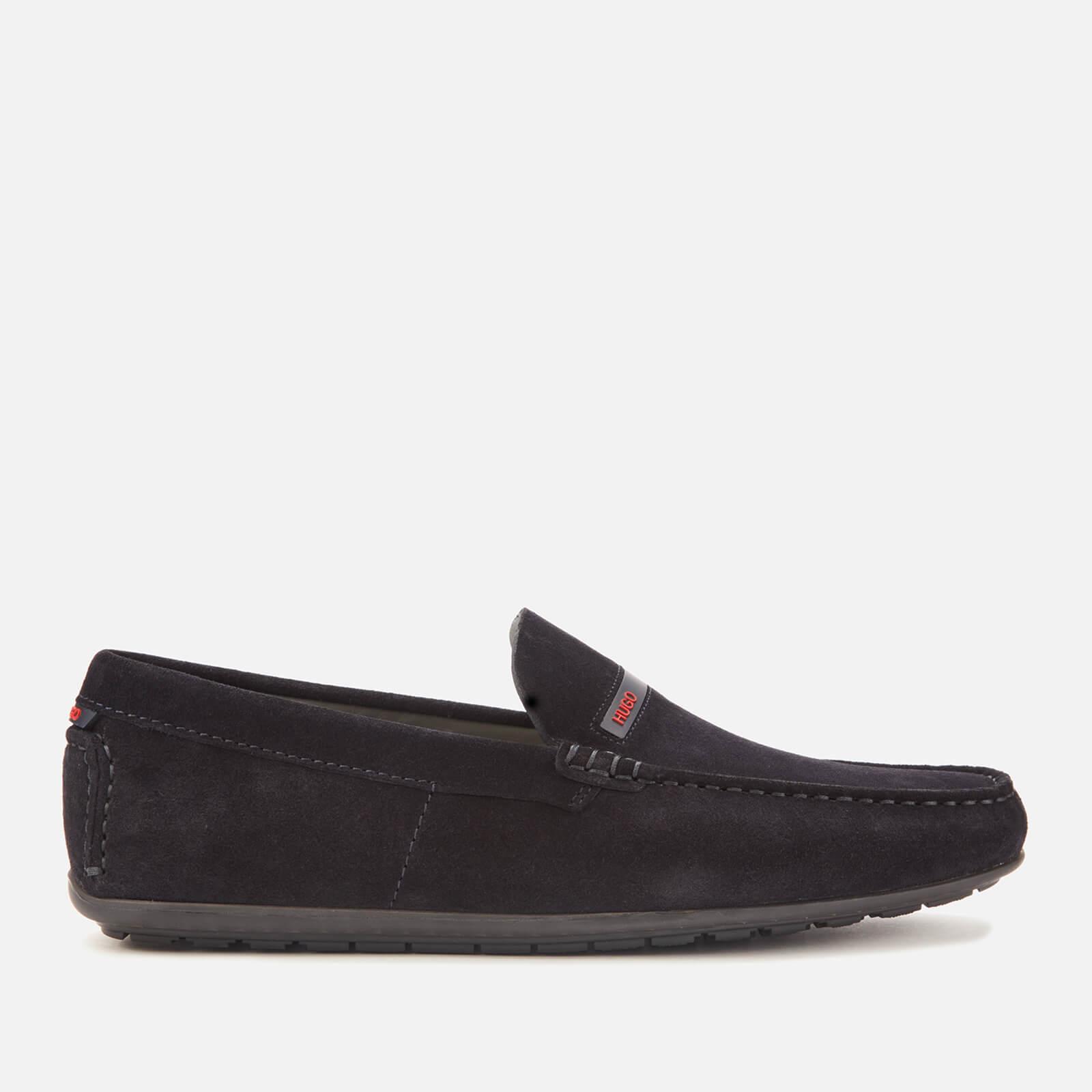 HUGO Men's Dandy Suede Driving Shoes - Navy - UK 8