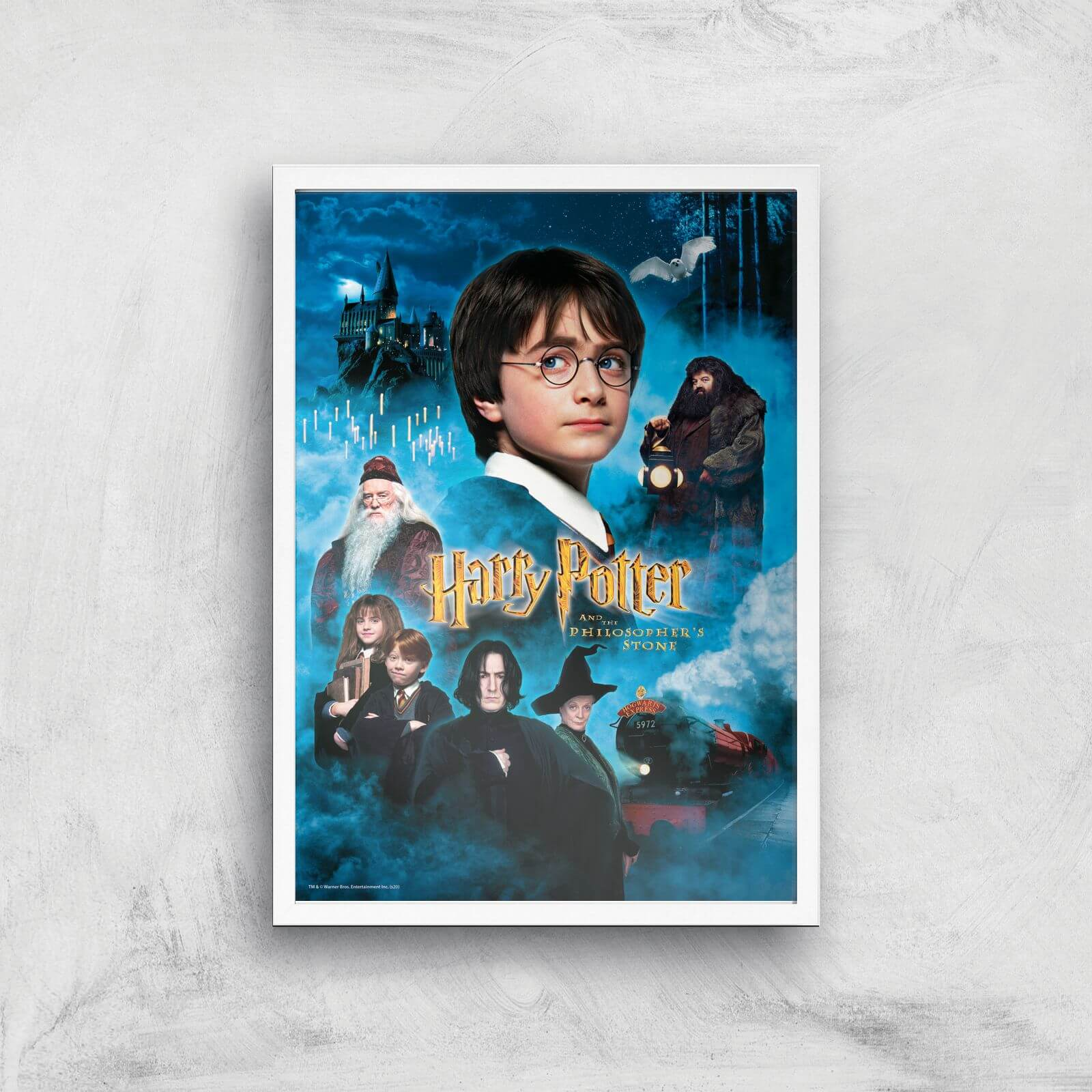 Harry Potter and the Philosopher's Stone Giclee Art Print - A2 - White Frame