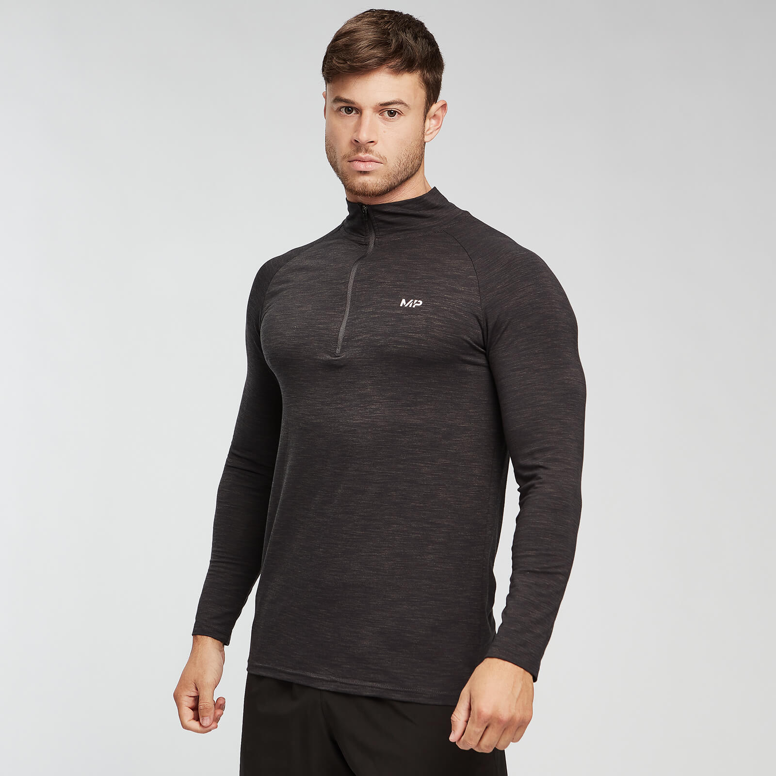 MP Performance 1/4 Zip - Noir et Gris - XL