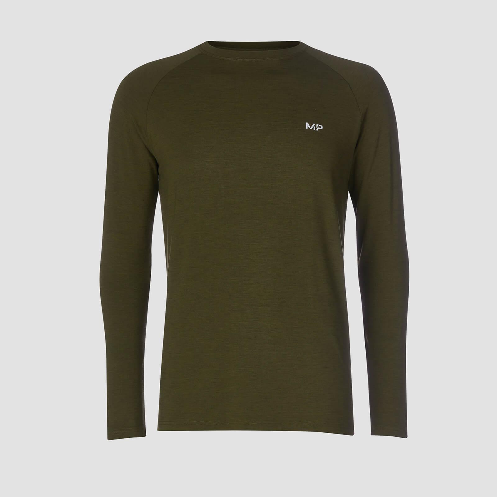 T-Shirt À Manches Longues Mp Performance - Vert Armée & Noir - XXL