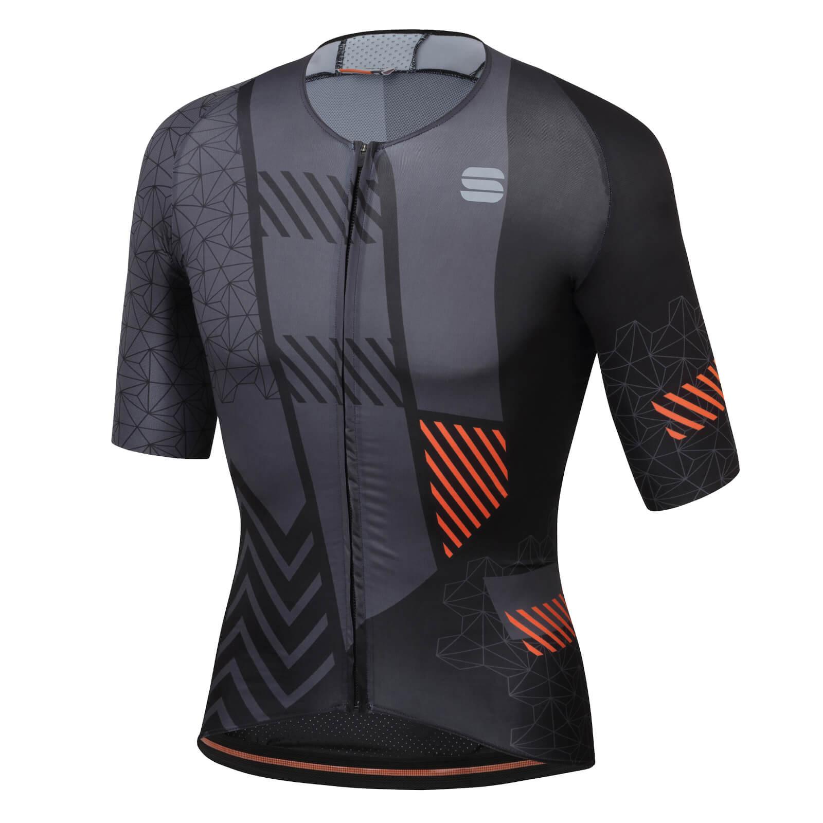 Sportful BodyFit Pro Bomber Jersey - XXL - Black/Anthracite