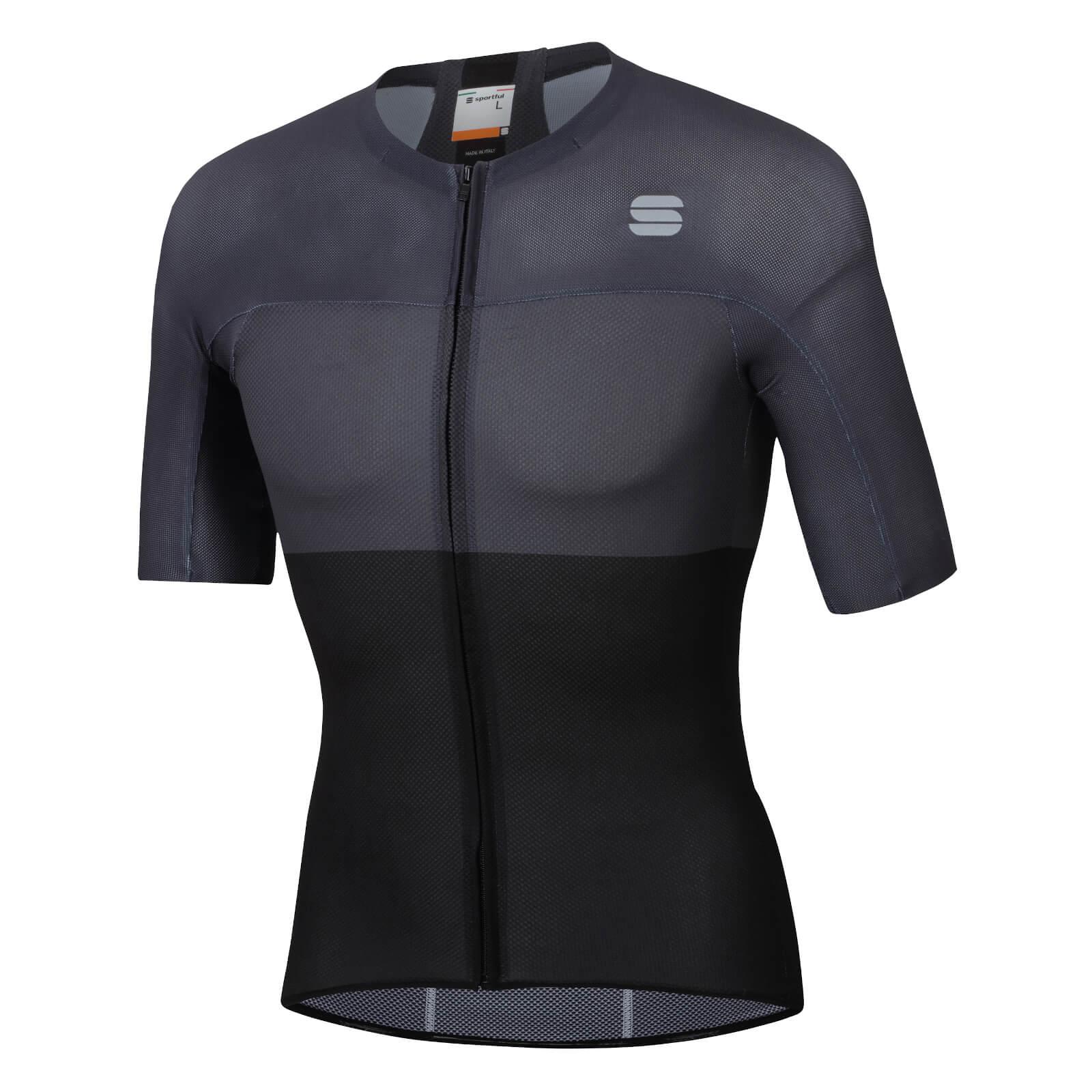 Sportful BodyFit Pro Light Jersey - L - Black/Anthracite