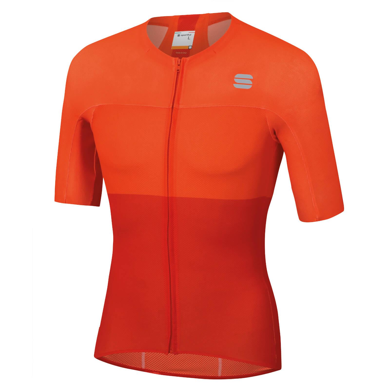 Sportful BodyFit Pro Light Jersey - XL - Fire Red/Orange SDR