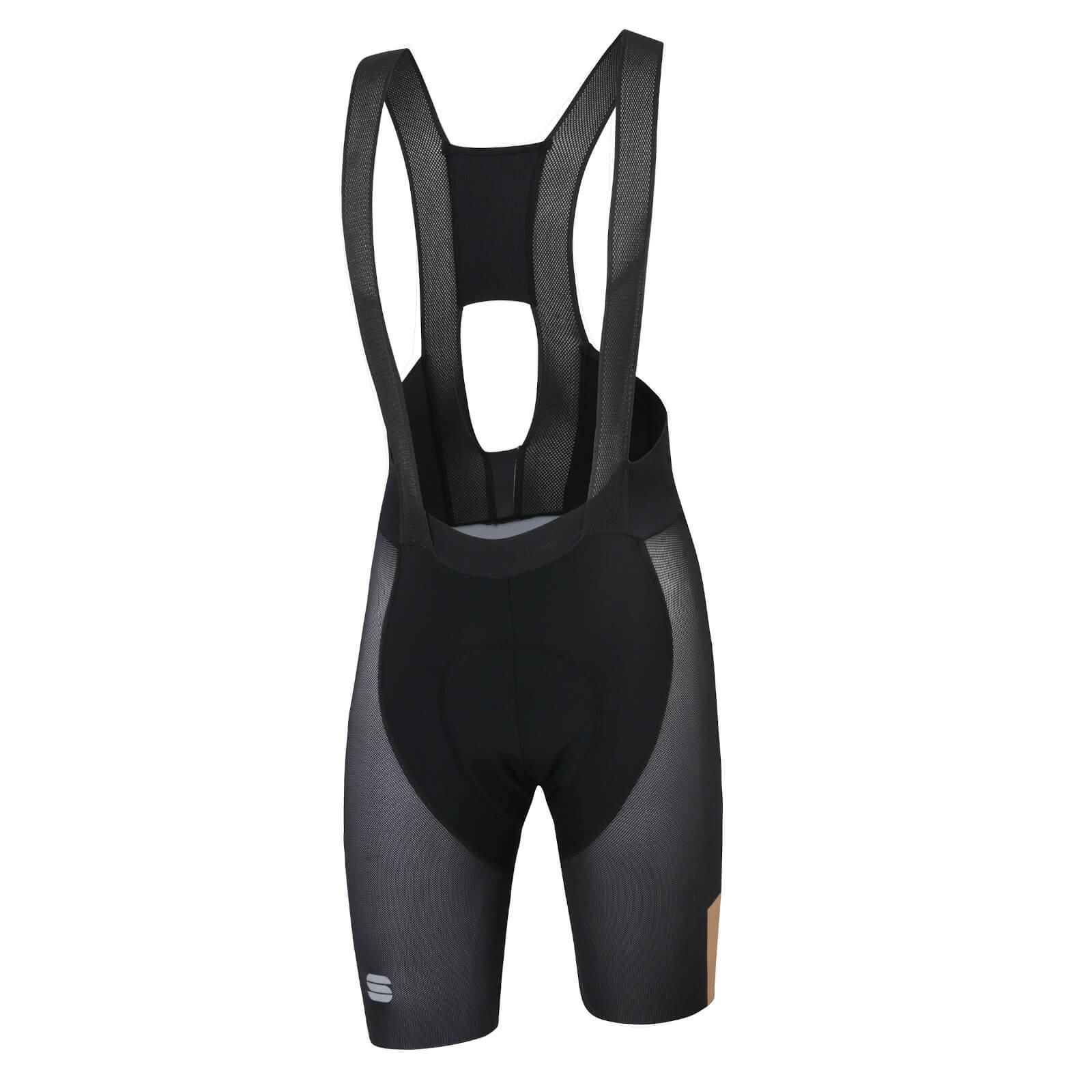 Sportful BodyFit Pro Air Bib Shorts - L - Black/Gold
