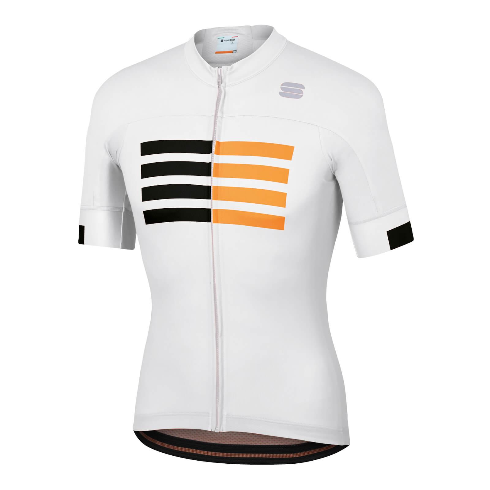 Sportful Wire Jersey - M - White/Black/Gold
