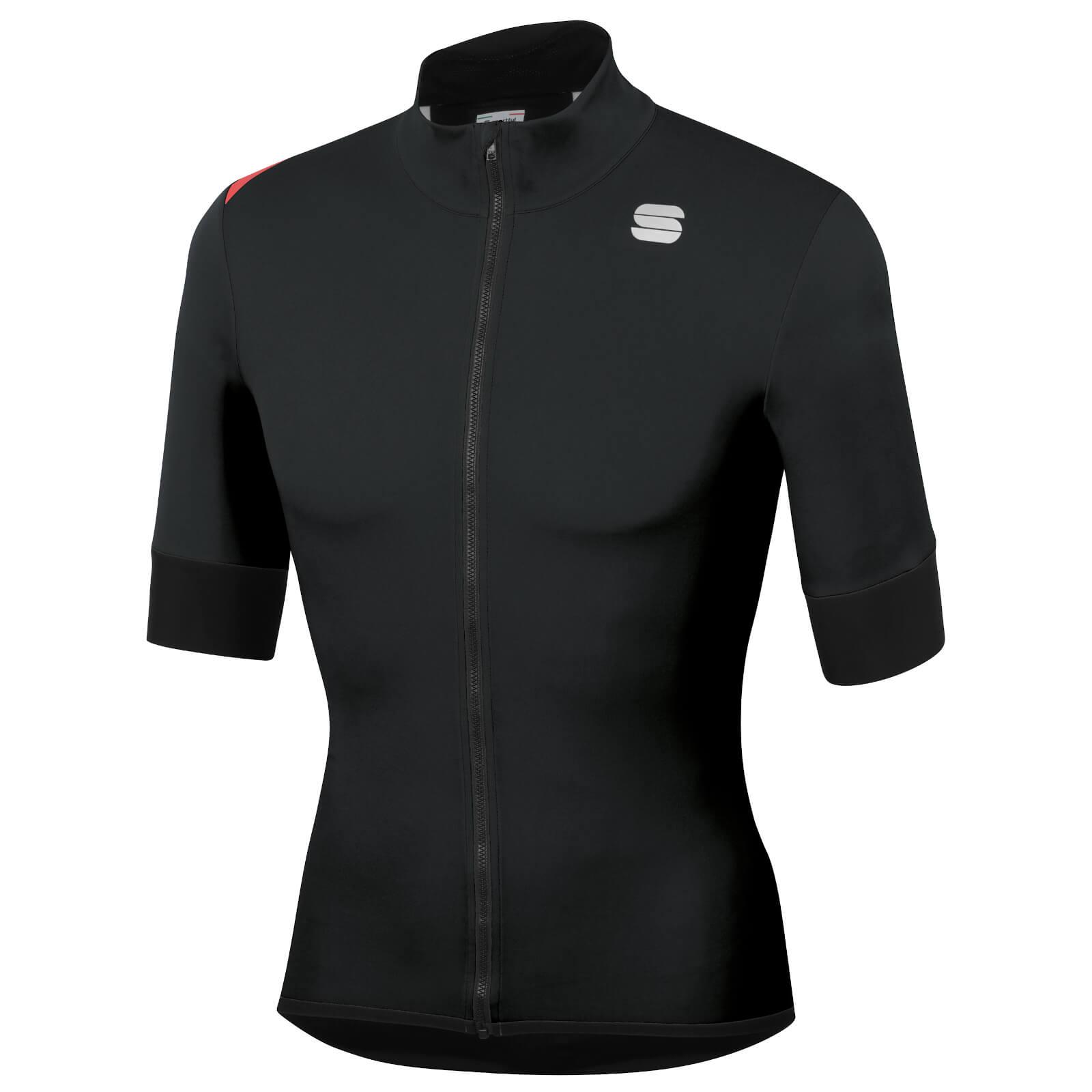 Sportful Fiandre Light NoRain Short Sleeve Jacket - XXL - Black