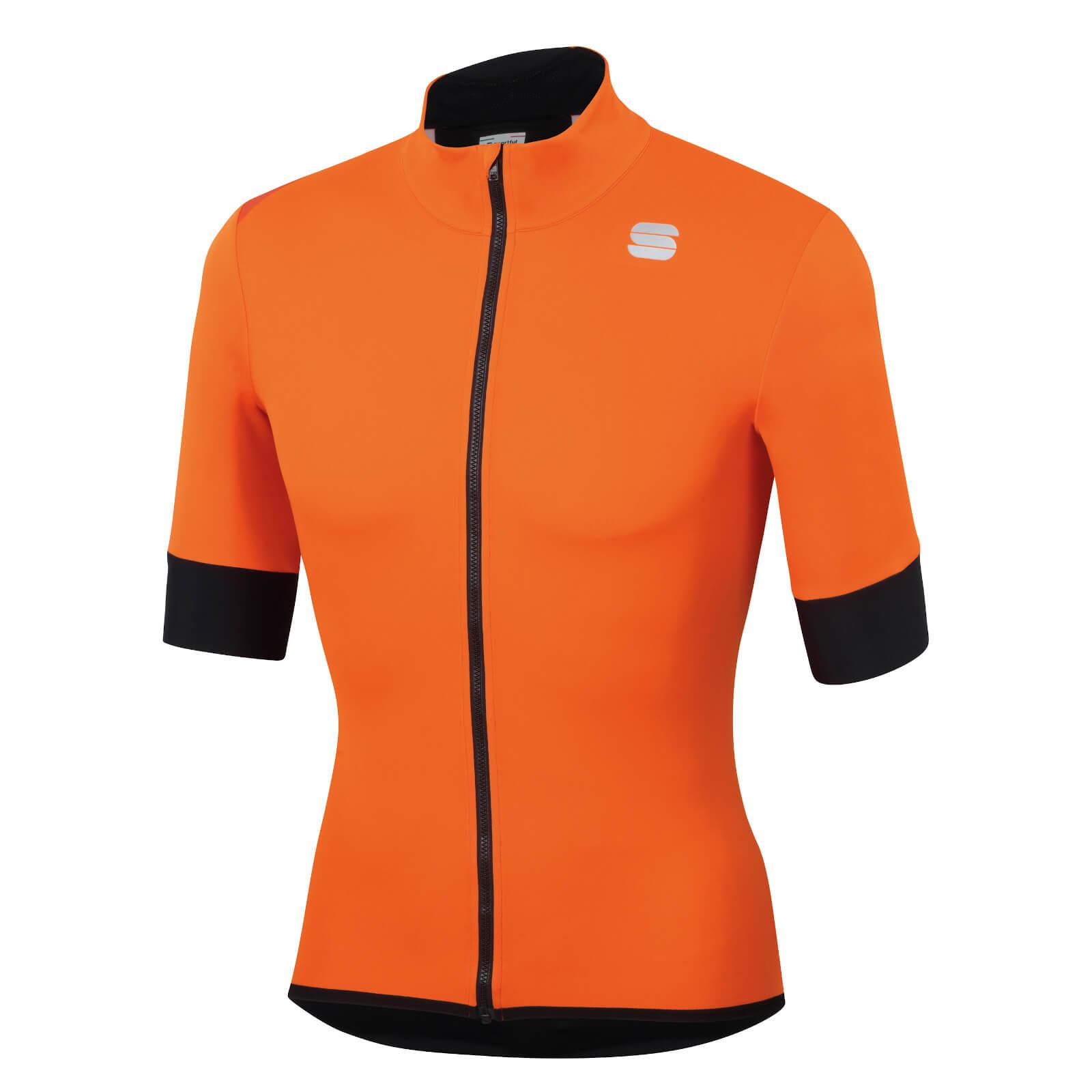 Sportful Fiandre Light NoRain Short Sleeve Jacket - S - Orange SDR