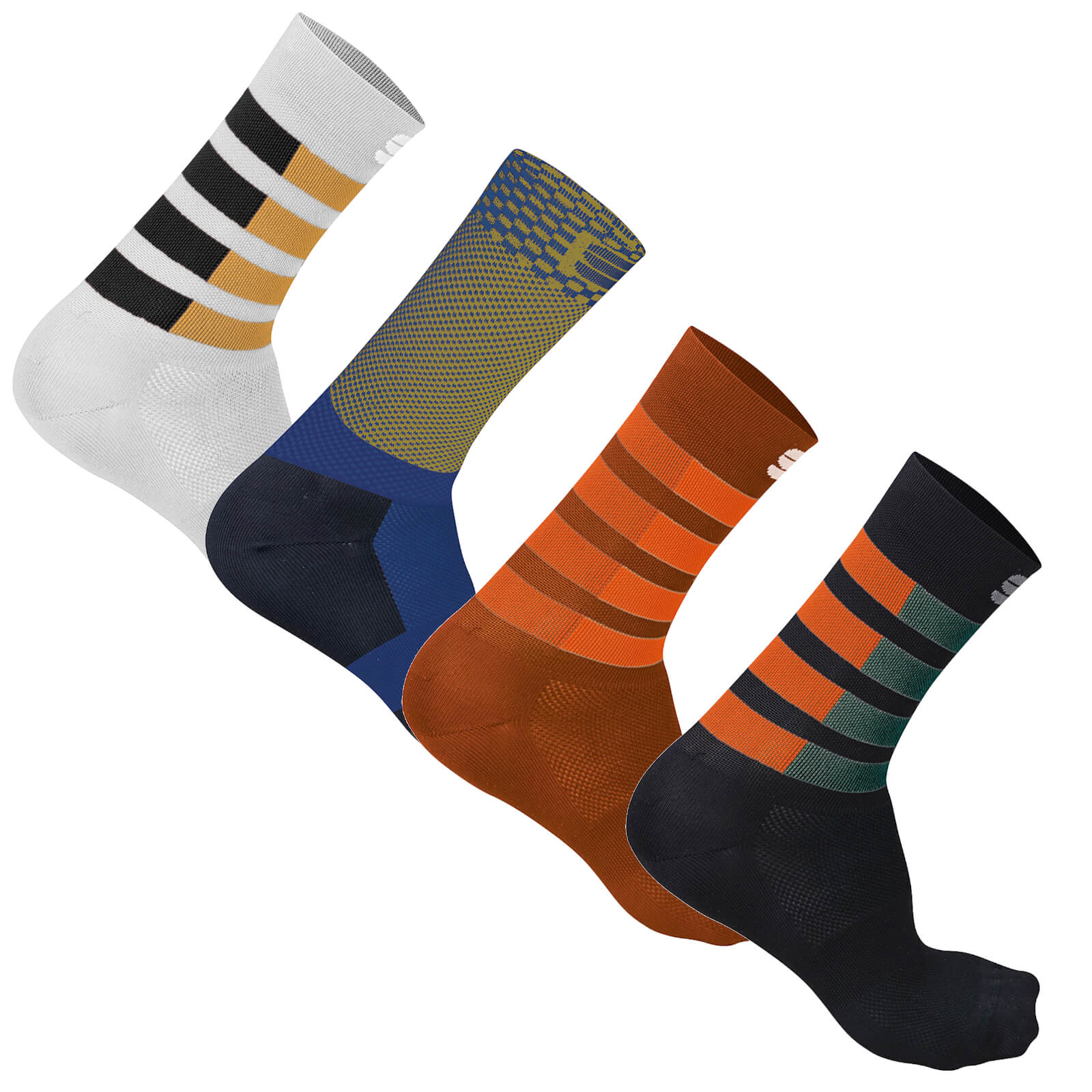 Sportful Mate Socks - XL - Black/Fire Red/Orange SDR