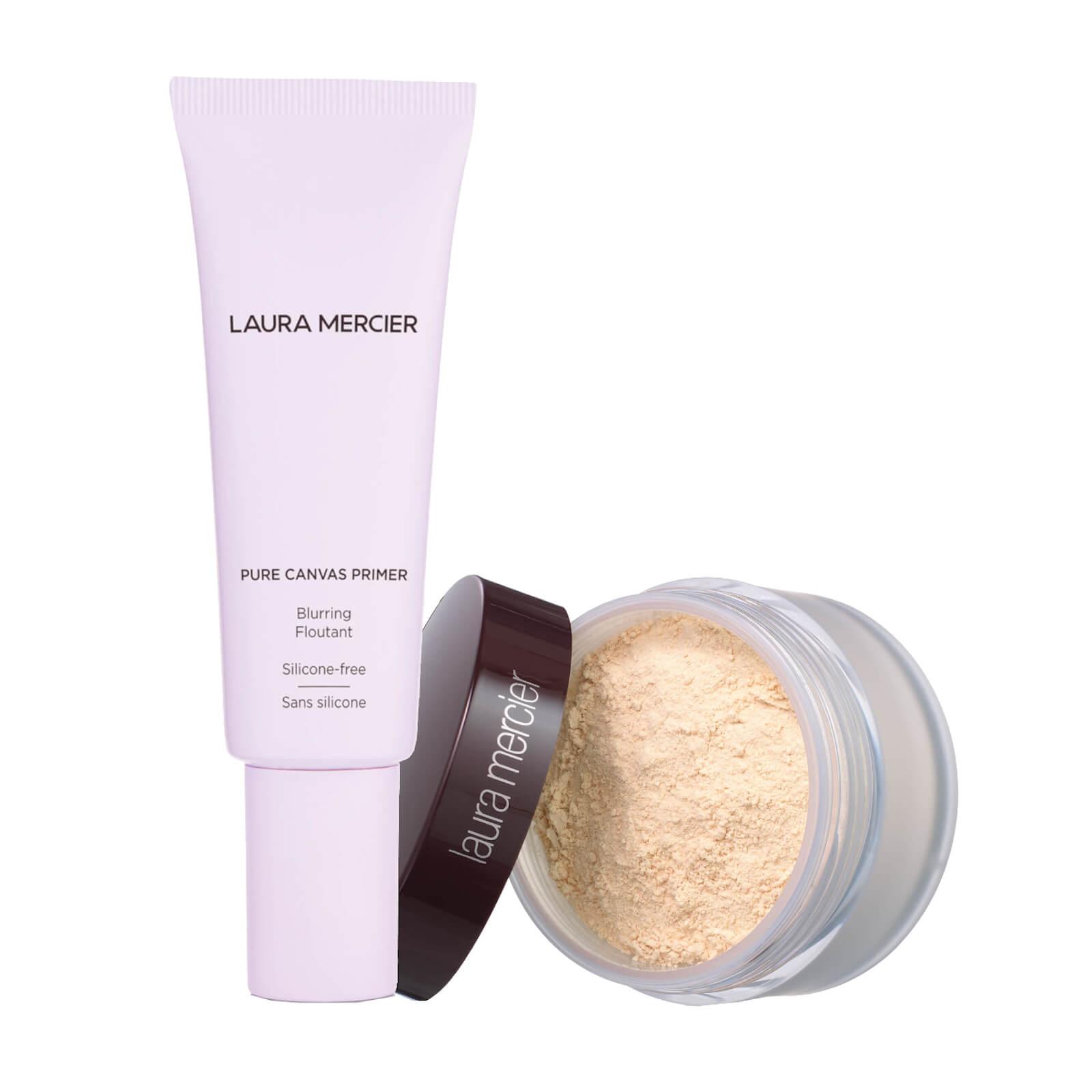 Laura Mercier Pure Canvas Primer- Blurring and Translucent Loose Setting Powder (Various Shades) - Translucent