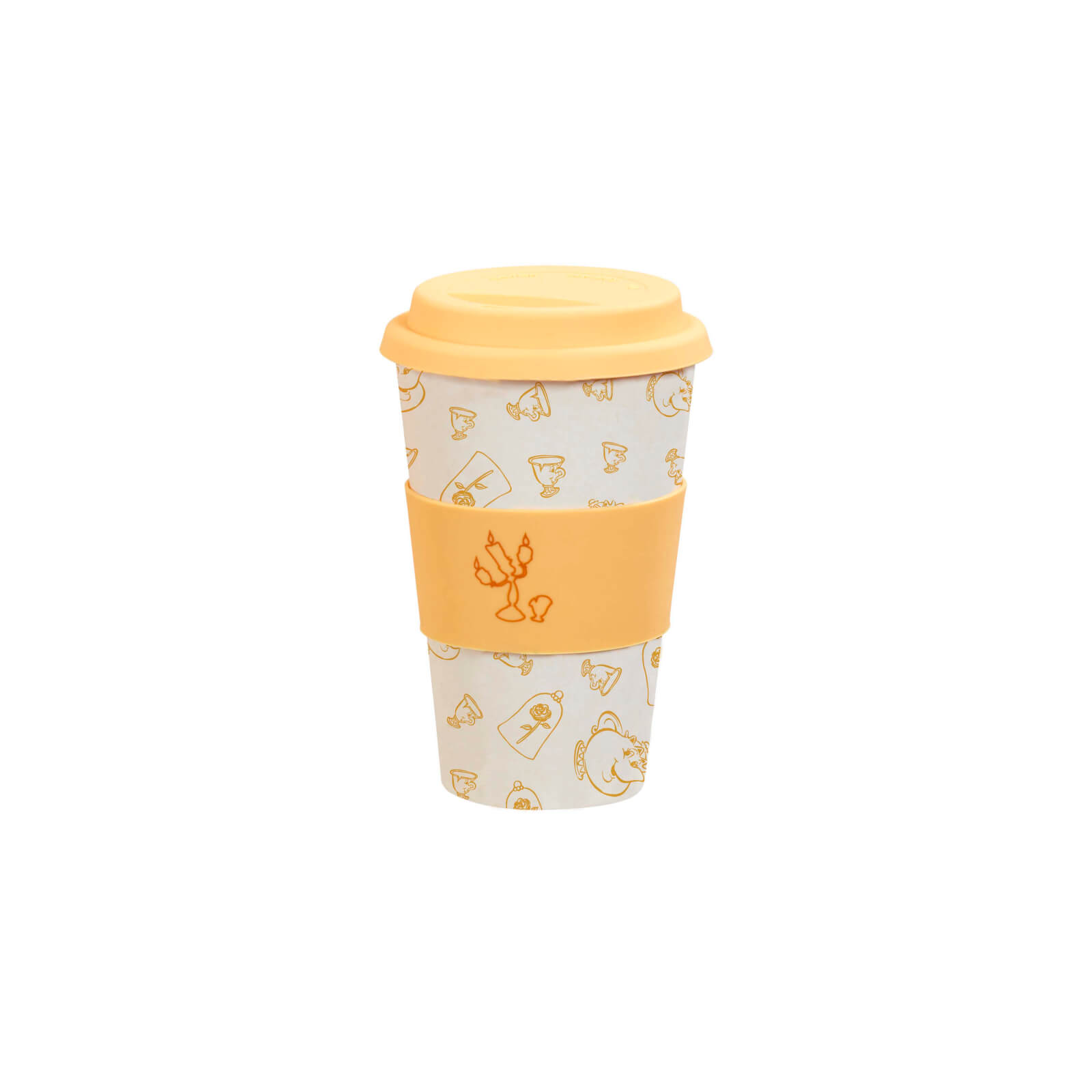 Image of Funko Homeware Disney Colour Block Be Our Guest Bamboo Lidded Mug