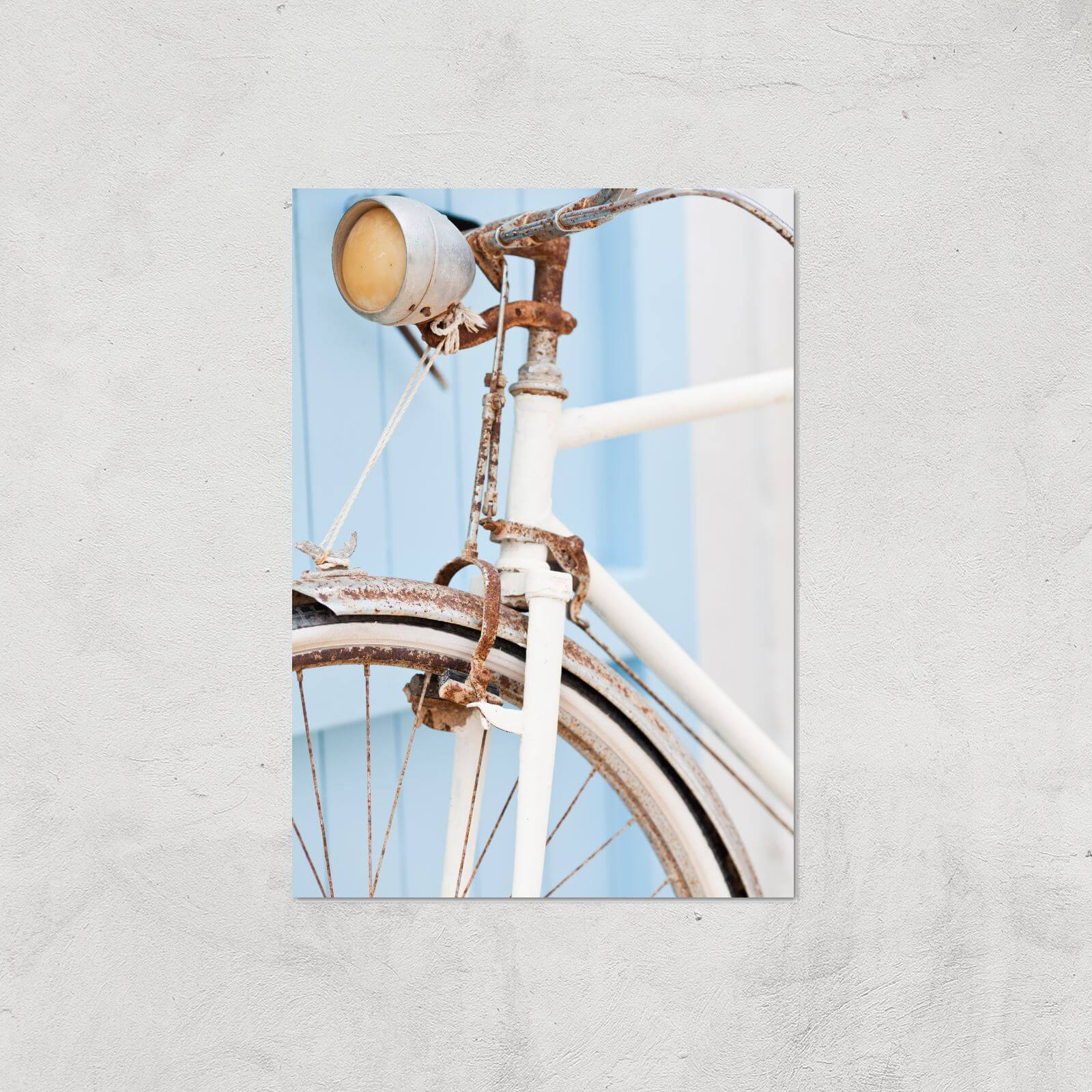 Rusty Bicycle Giclee Art Print   A4   Print Only