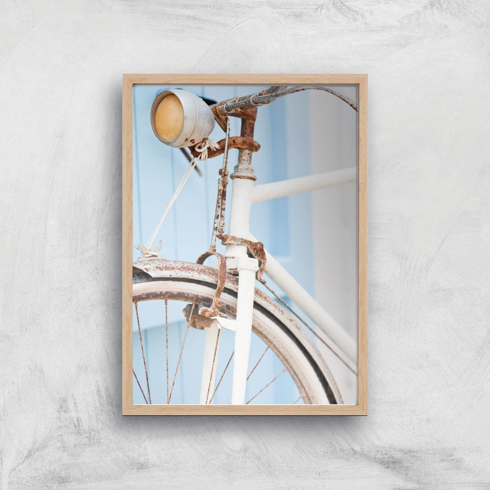 Rusty Bicycle Giclee Art Print   A4   Wooden Frame