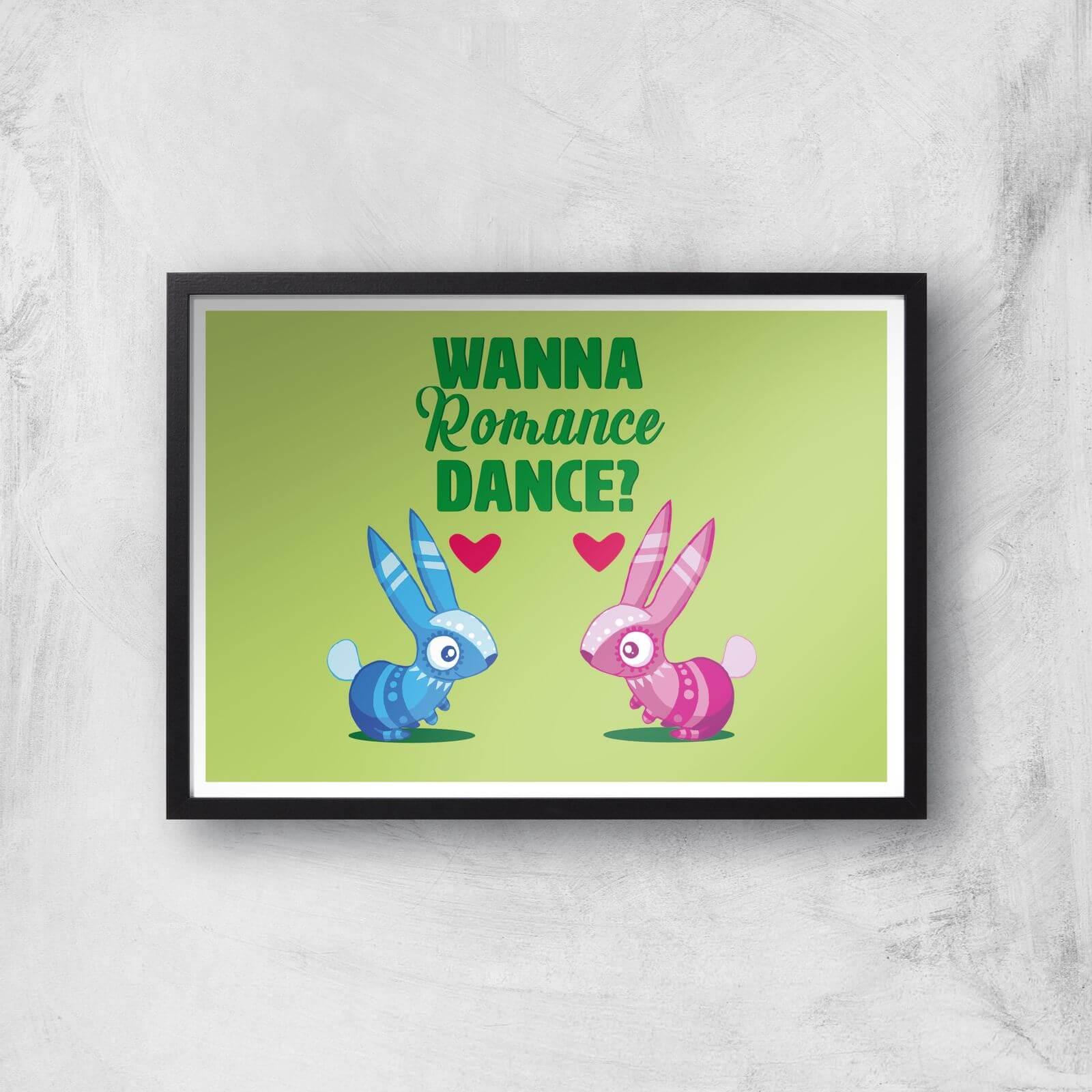 Image of Viva Pinata Wanna Romance Dance Rabbit Art Print Giclee Art Print - A4 - Black Frame