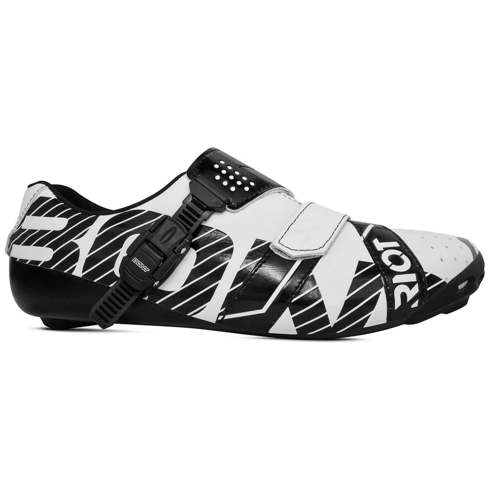 Bont Riot Road Shoes - EU 43 - White/Black