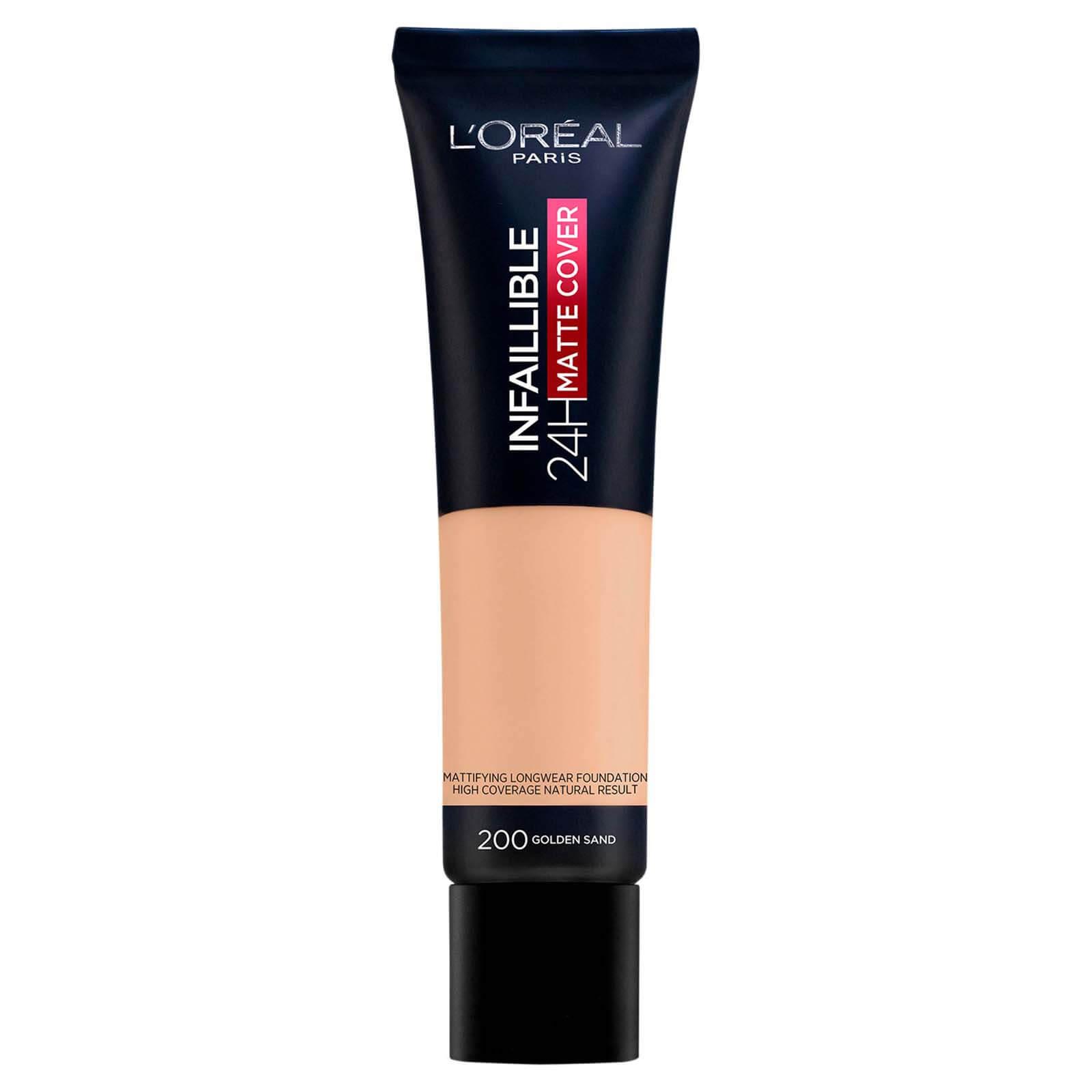 L'Oréal Paris Infallible 24hr Matte Cover Liquid Foundation 35ml (Various Shades) - 200 Golden Sand