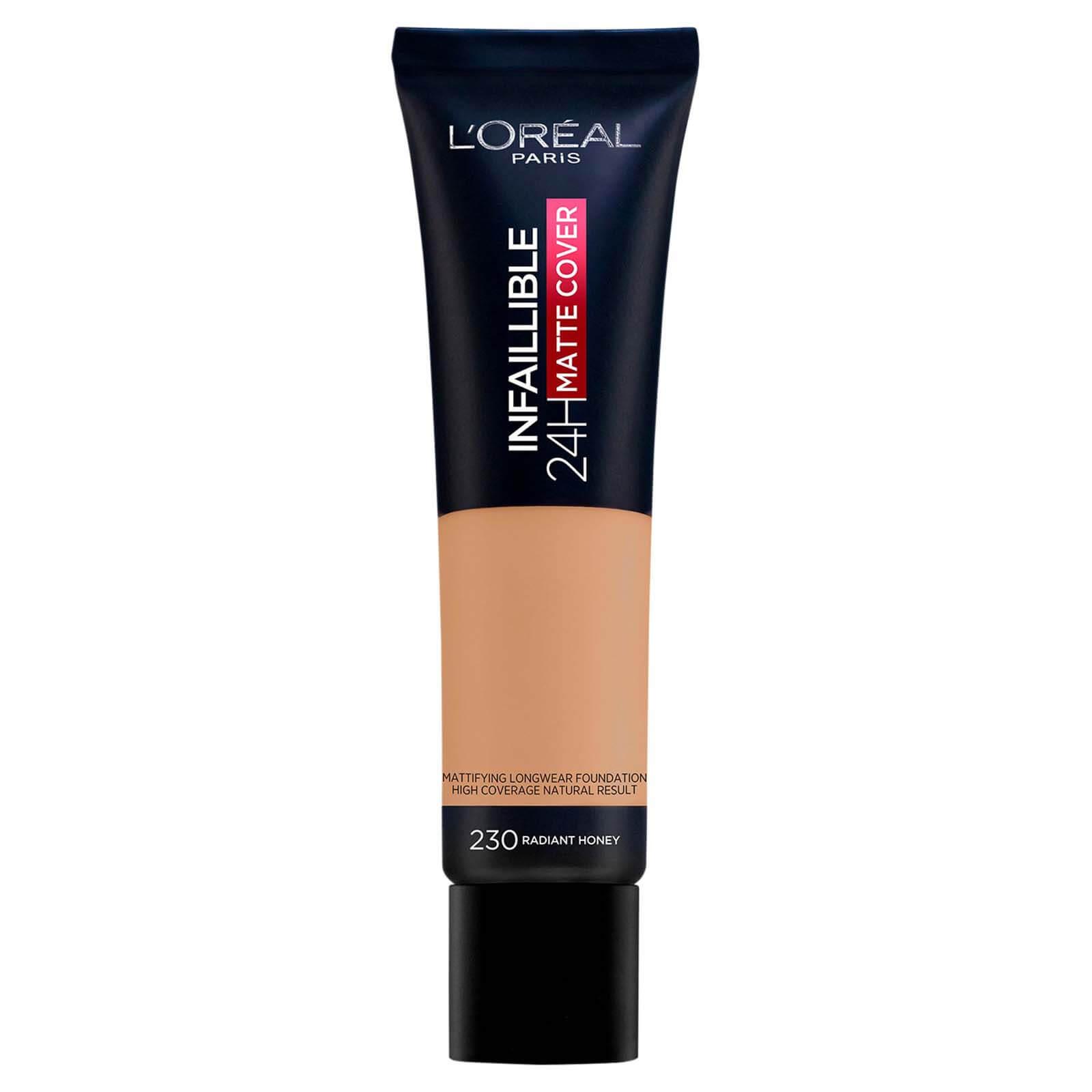 L'Oréal Paris Infallible 24hr Matte Cover Liquid Foundation 35ml (Various Shades) - 230 Radiant Honey