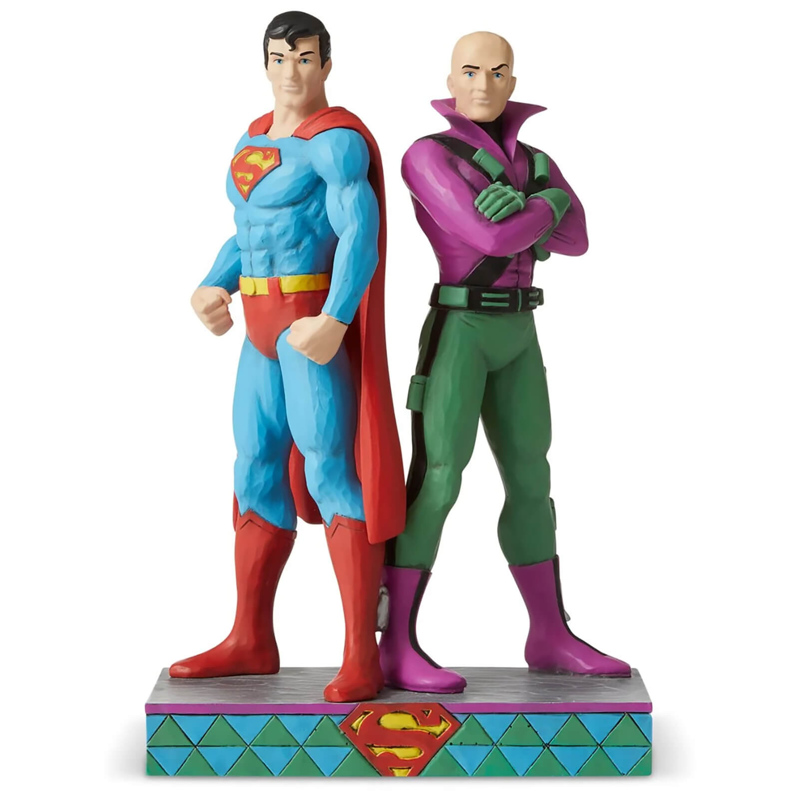 Image of DC Comics by Jim Shore Superman™ vs Lex Luther Figurine 21.5cm