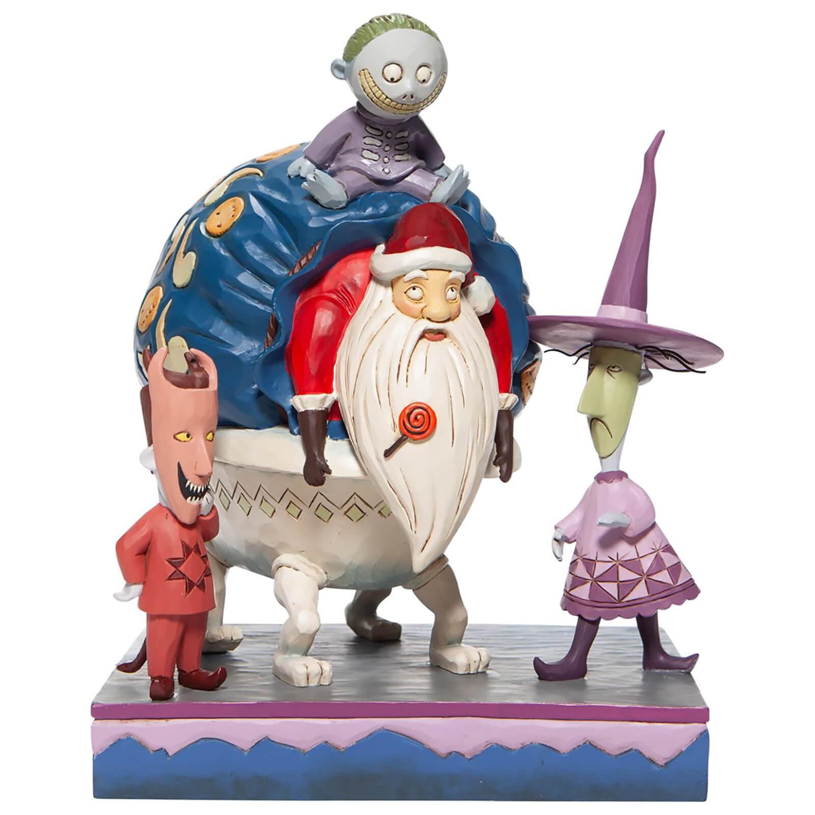 Disney Traditions Lock, Shock and Barrel with Santa Figurine 23cm