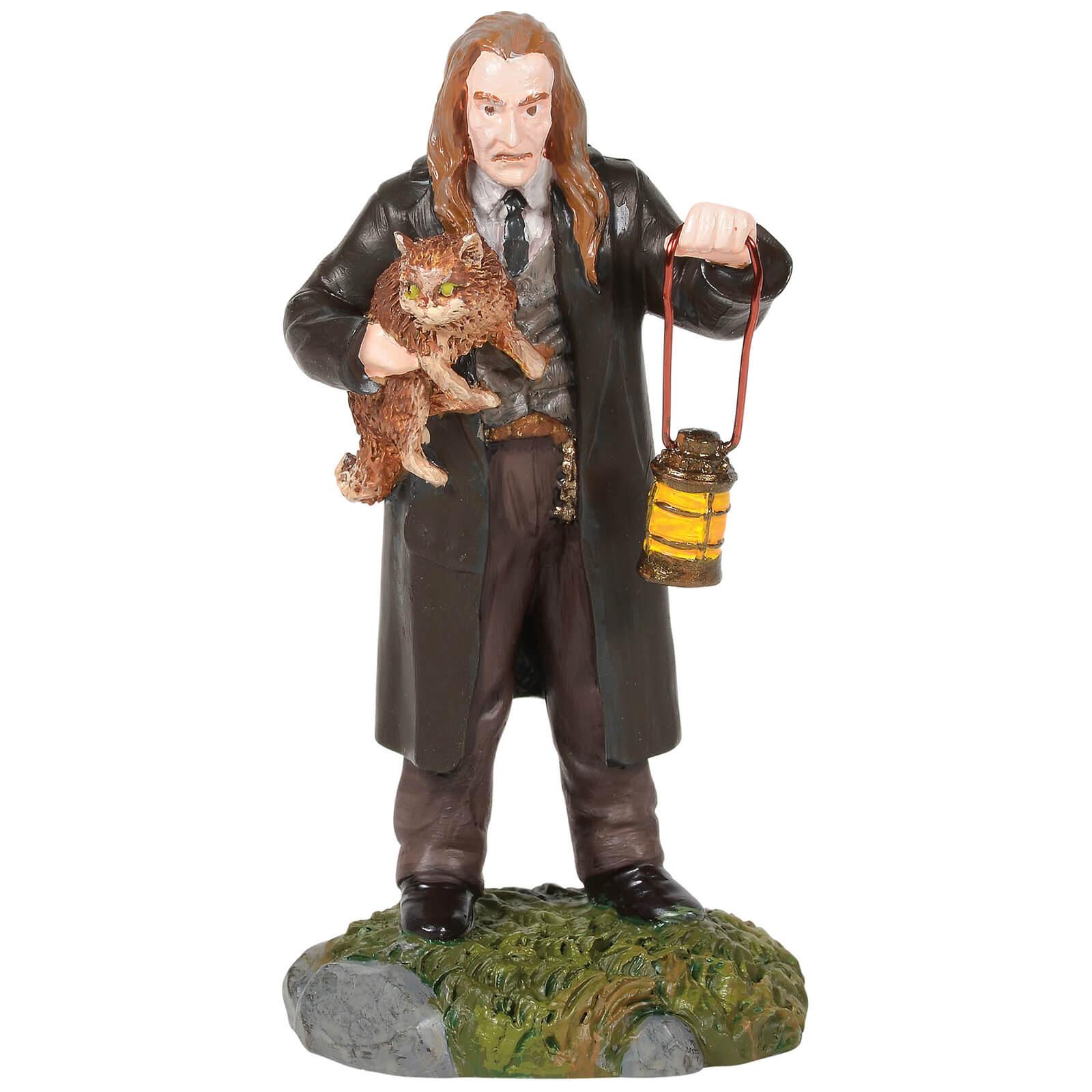 Image of Harry Potter Village Filch™ and Mrs. Norris™ 8cm