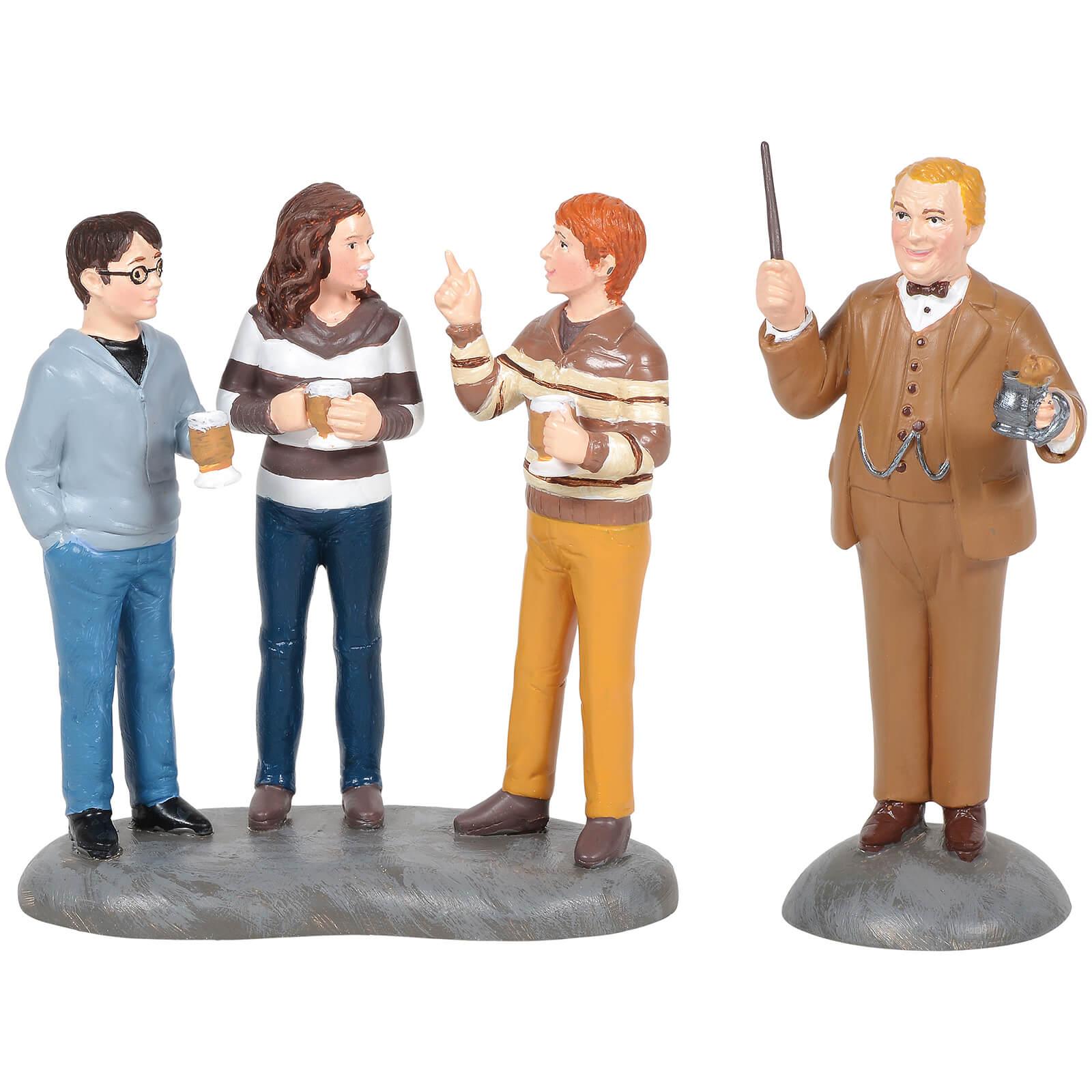 Image of Harry Potter Village Professor Slughorn and His Students 7cm