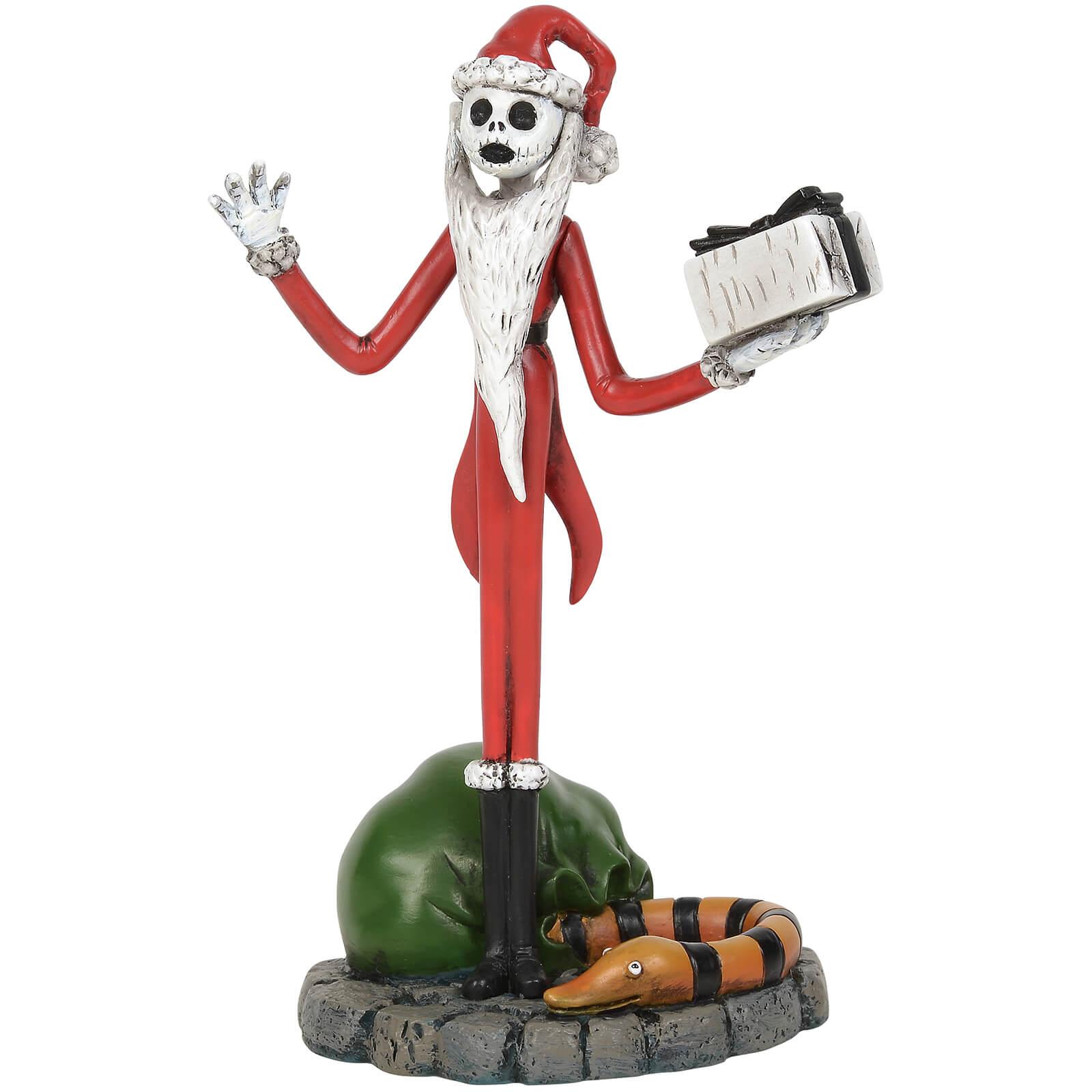 Image of The Nightmare Before Christmas Village Jack Skellington Steals Christmas Figurine 11cm