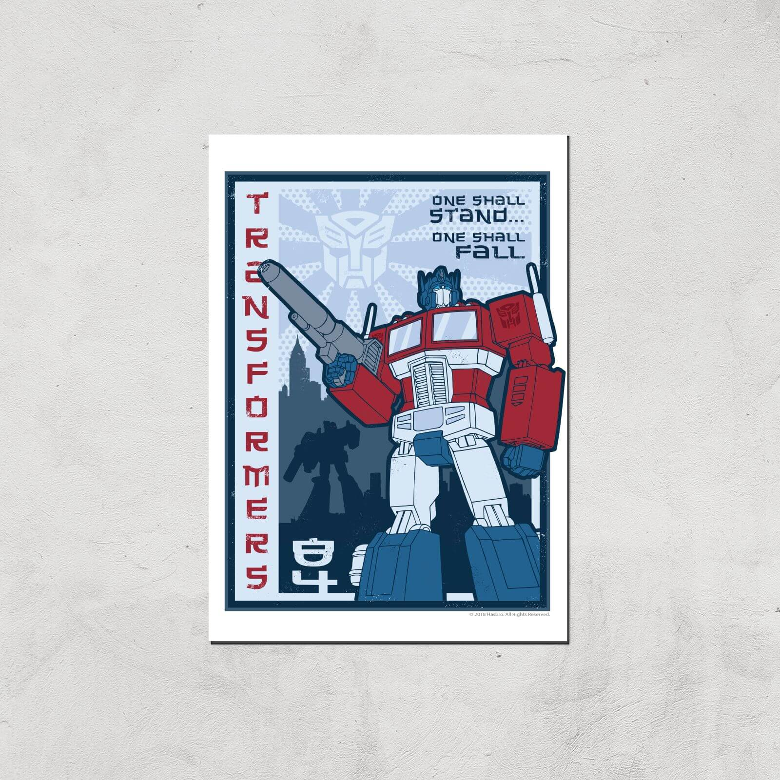 Transformers One Shall Stand Poster Art Print   A2   Print Only