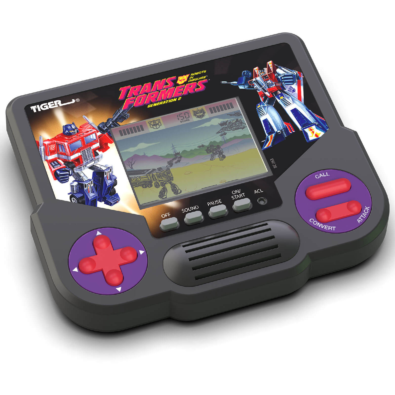 Image of Hasbro Tiger Electronics Transformers Generation 2 Electronic LCD Video Game