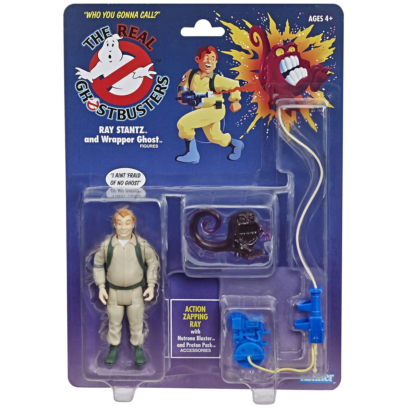 Image of Hasbro Ghostbusters Kenner Classics Ray Stantz and Wrapper Ghost Retro Action Figure