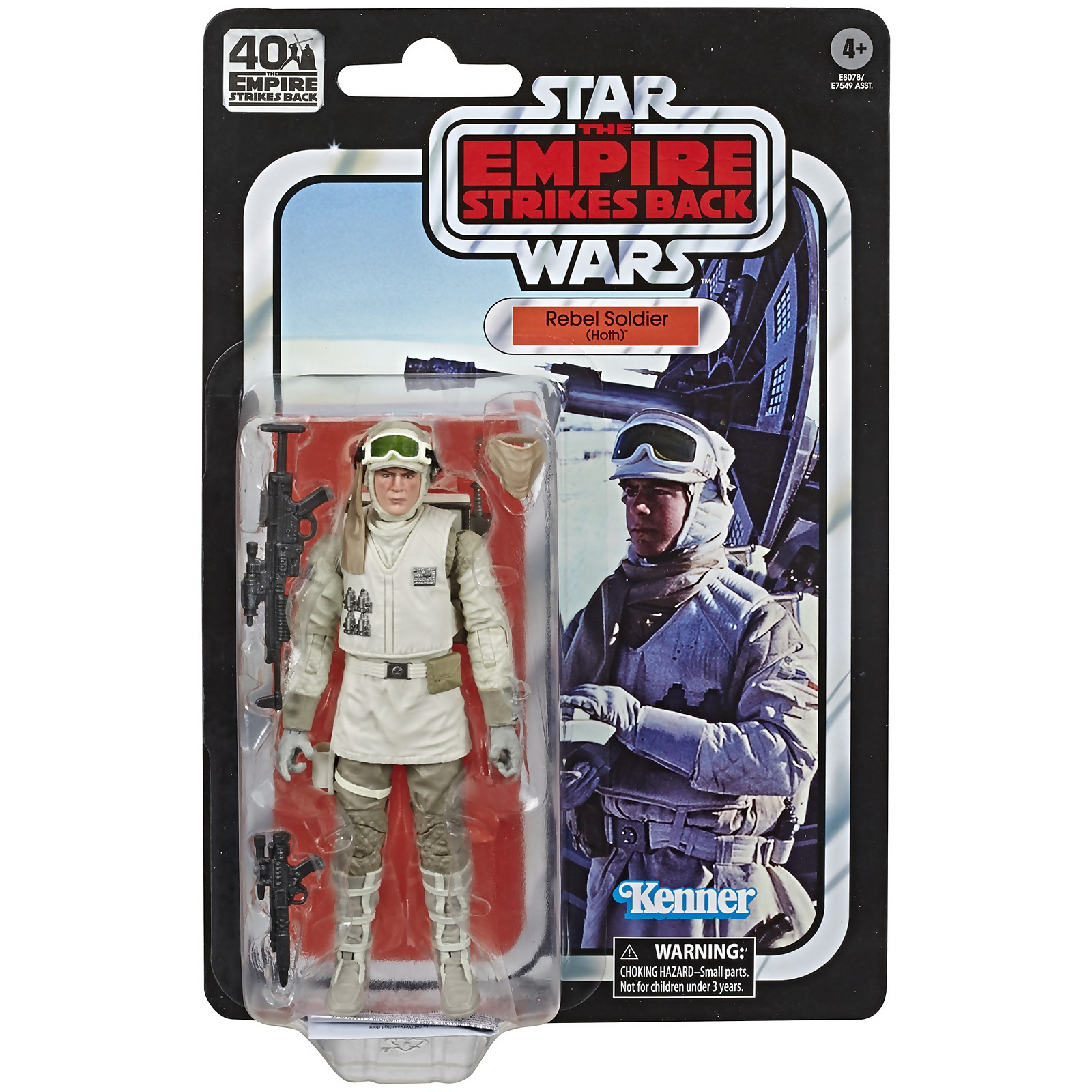 Image of Hasbro Star Wars The Black Series Rebel Soldier (Hoth) Toy Action Figure