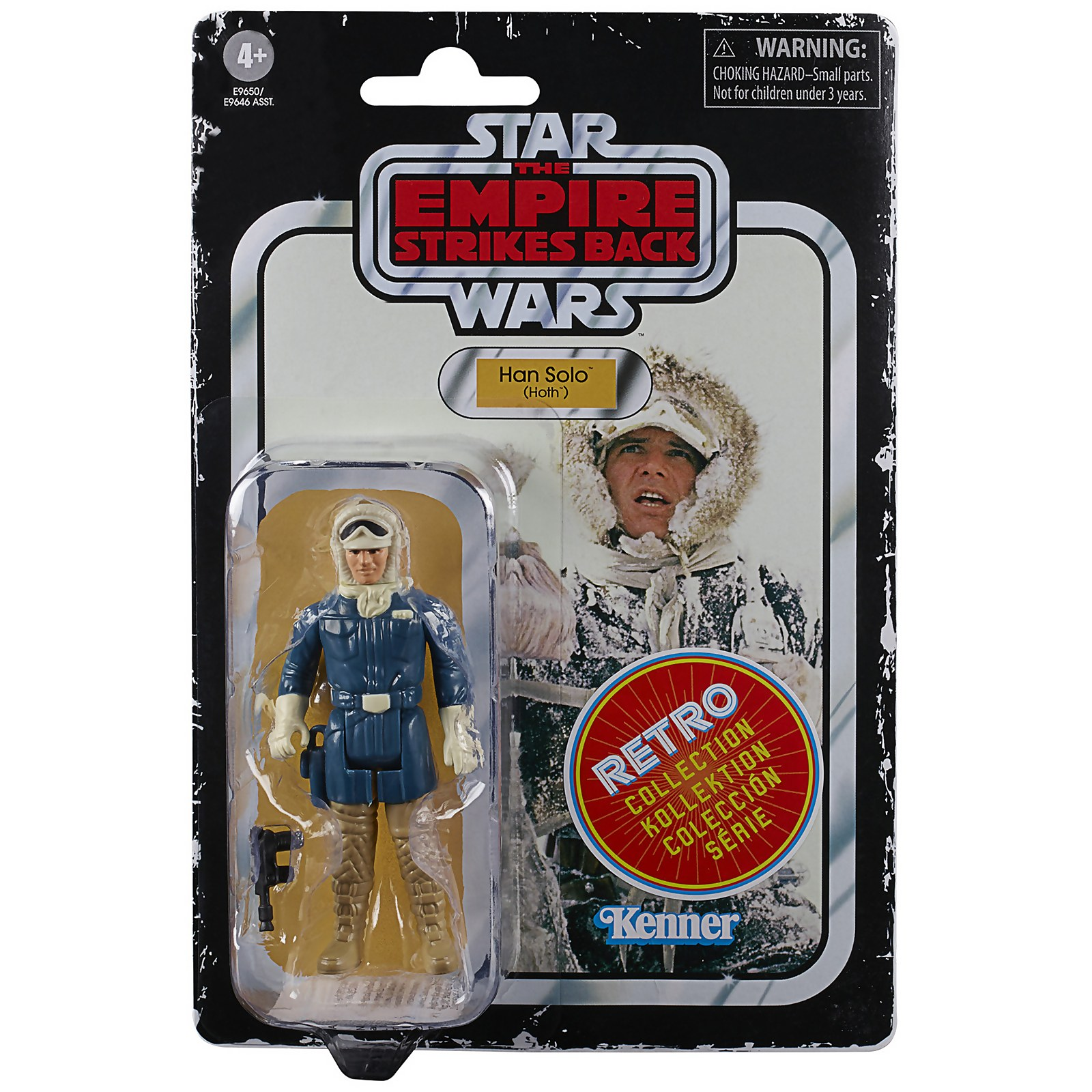 Image of Hasbro Star Wars Retro Collection Han Solo (Hoth) Toy Action Figure
