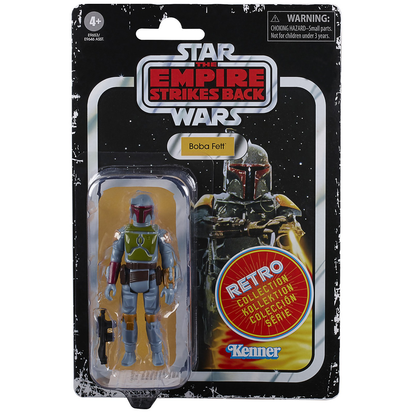 Image of Hasbro Star Wars Retro Collection Boba Fett Toy Action Figure
