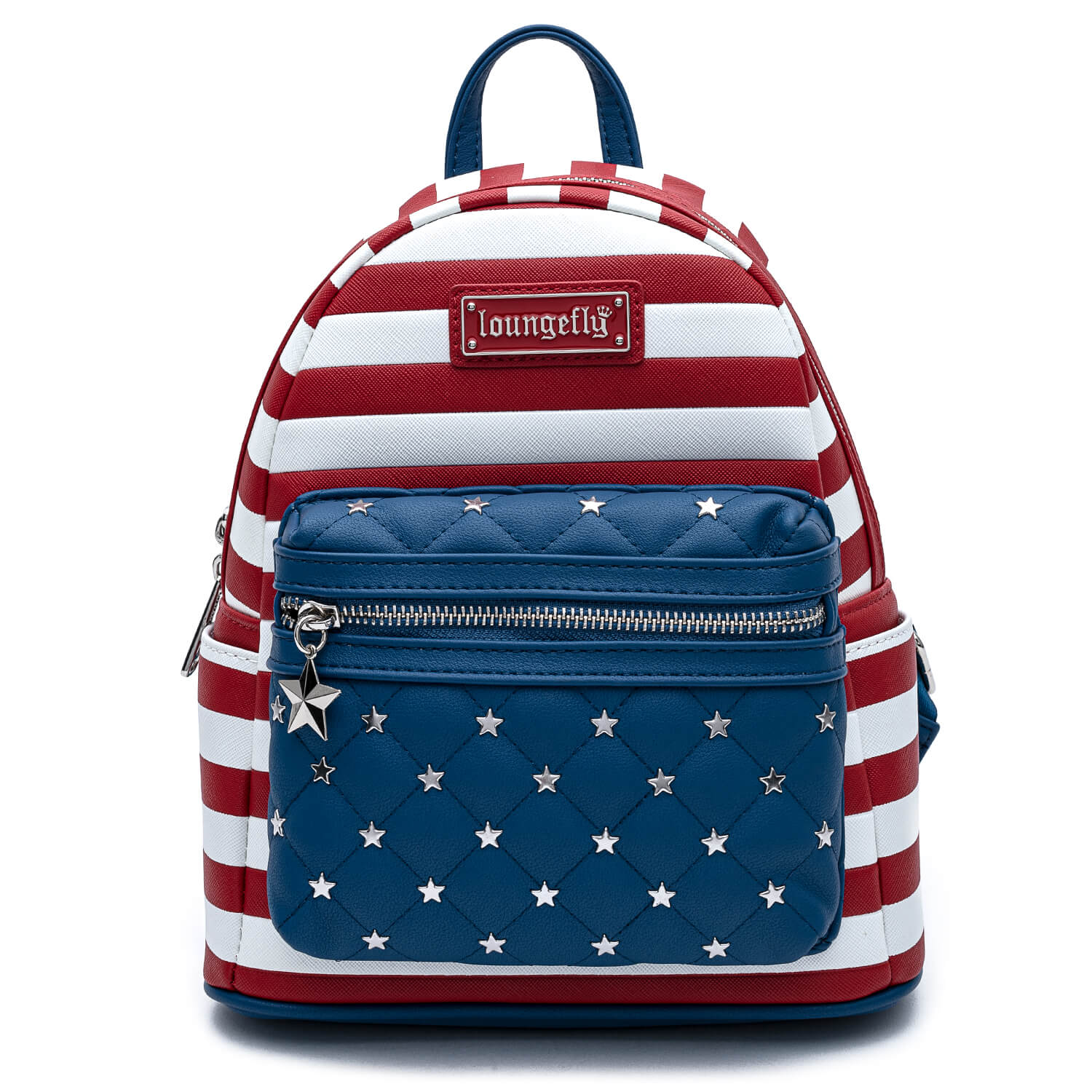 Image of Loungefly Americana Quilted Mini Backpack