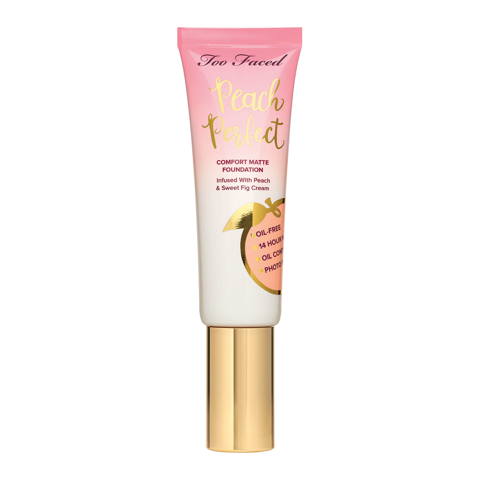 Too Faced Peach Perfect Comfort Matte Foundation (Various Shades) - Butterscotch