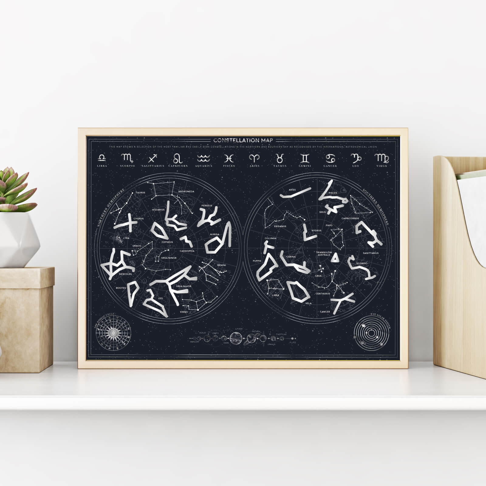 Image of Constellation Scratch Poster
