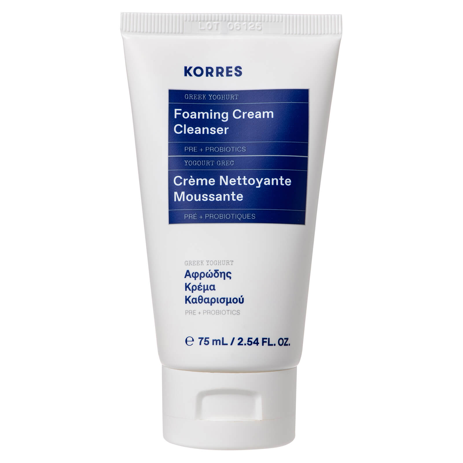Купить KORRES Greek Yoghurt Foaming Cream Cleanser 75ml