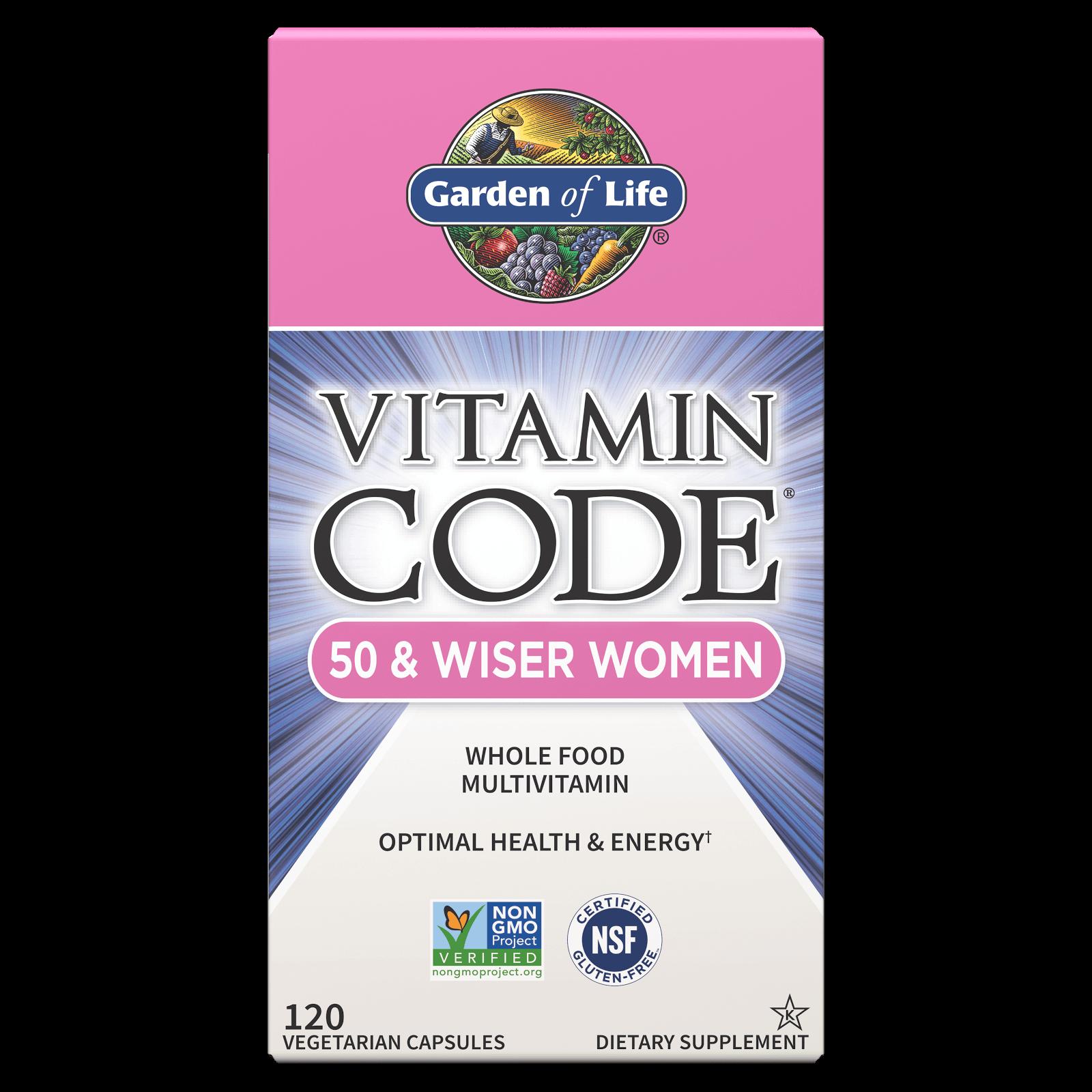Vitamine Code 50 en Wijzere Vrouwen - 120 capsules