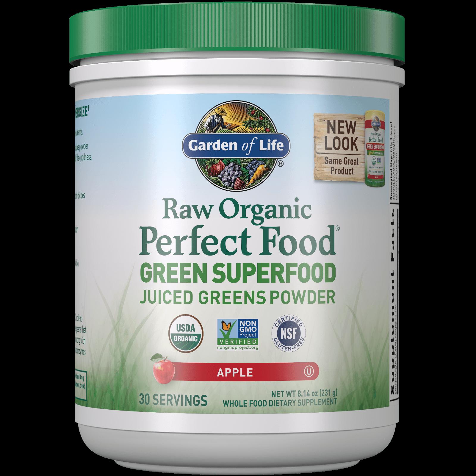 Raw Biologische Perfecte Voeding Groen Superfood - appel - 231 g