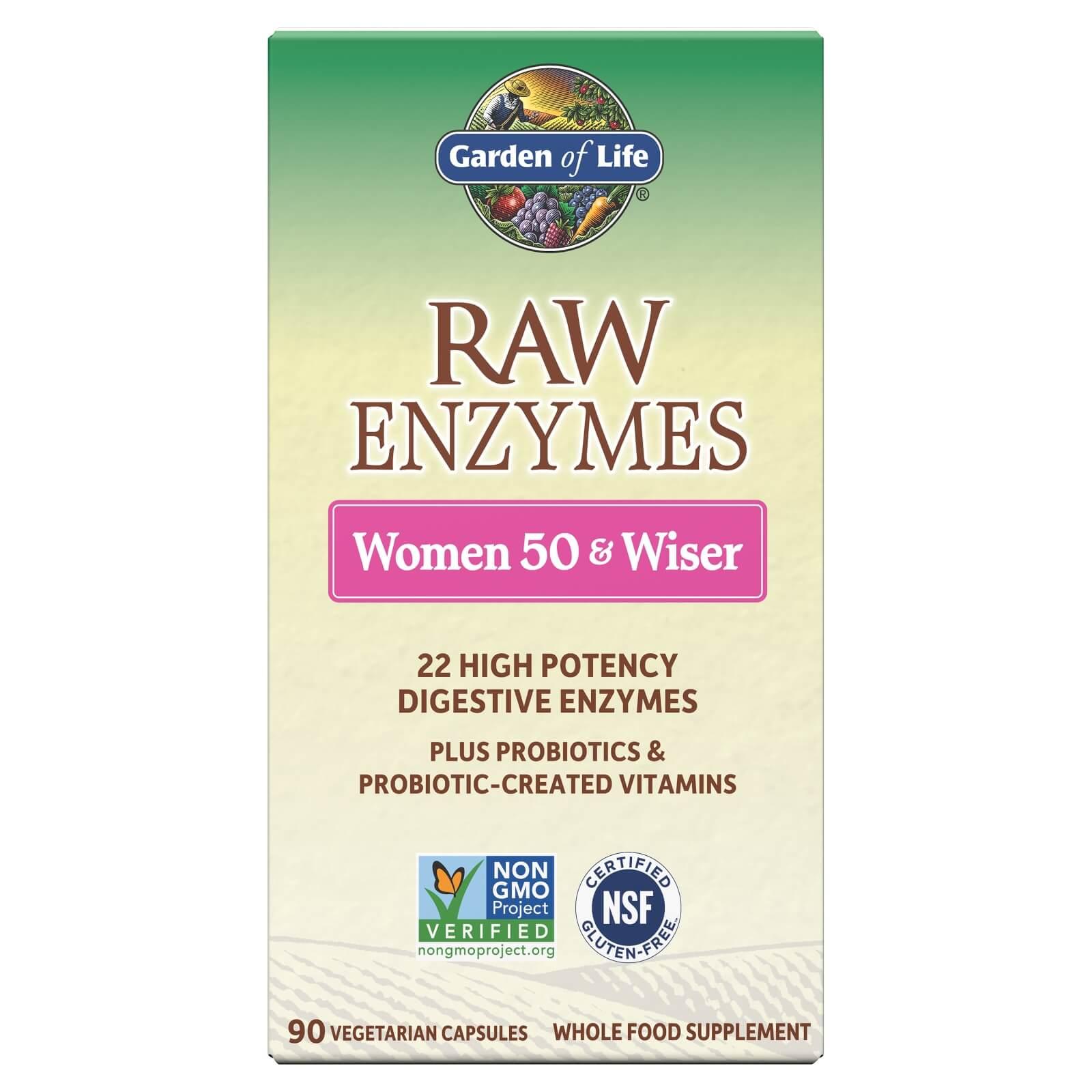 Raw Enzymen Vrouwen 50+ en Wijzer - 90 capsules