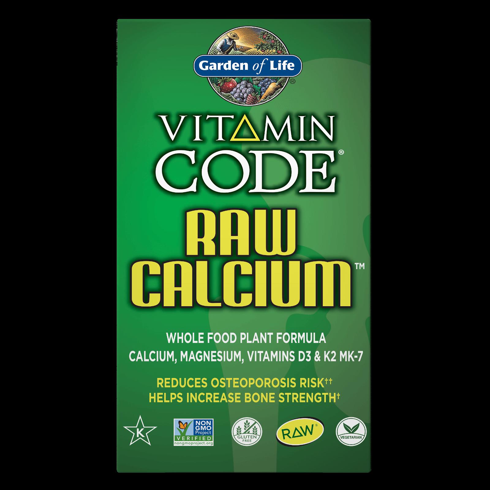 Vitamine Code Raw Calcium - 120 capsules