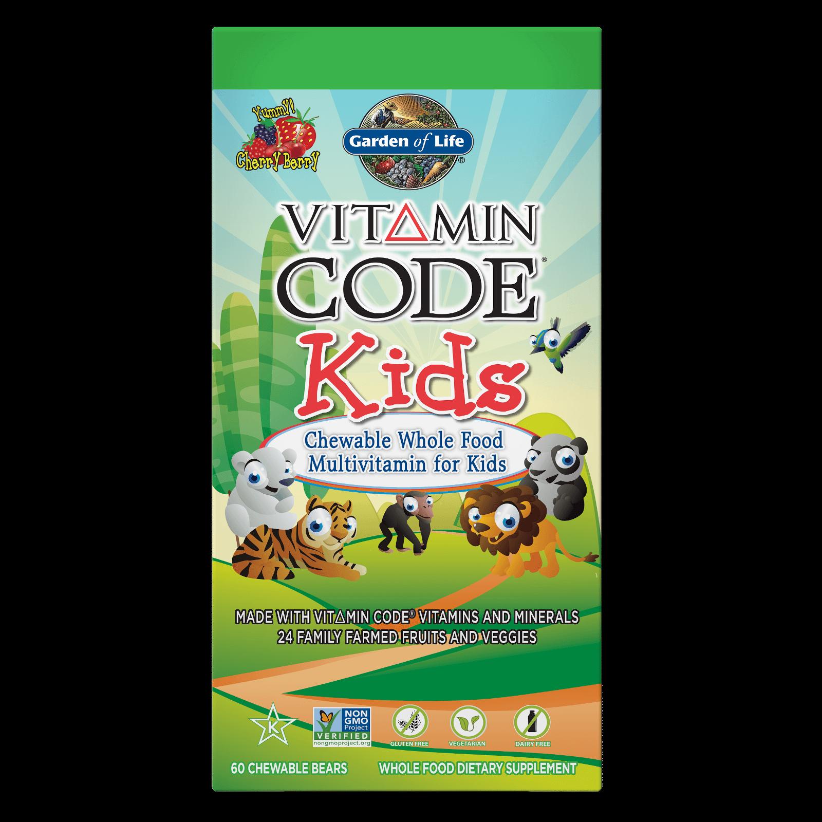 Vitamin Code Kids Cherry Berry - 60 Chewables