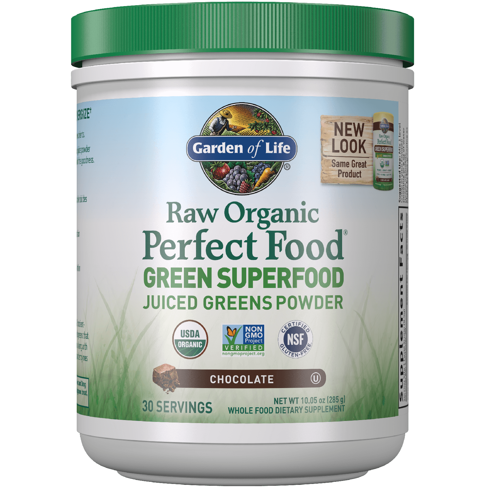 RAW Biologische Perfecte Voeding Groen Superfood - chocolade - 285 g